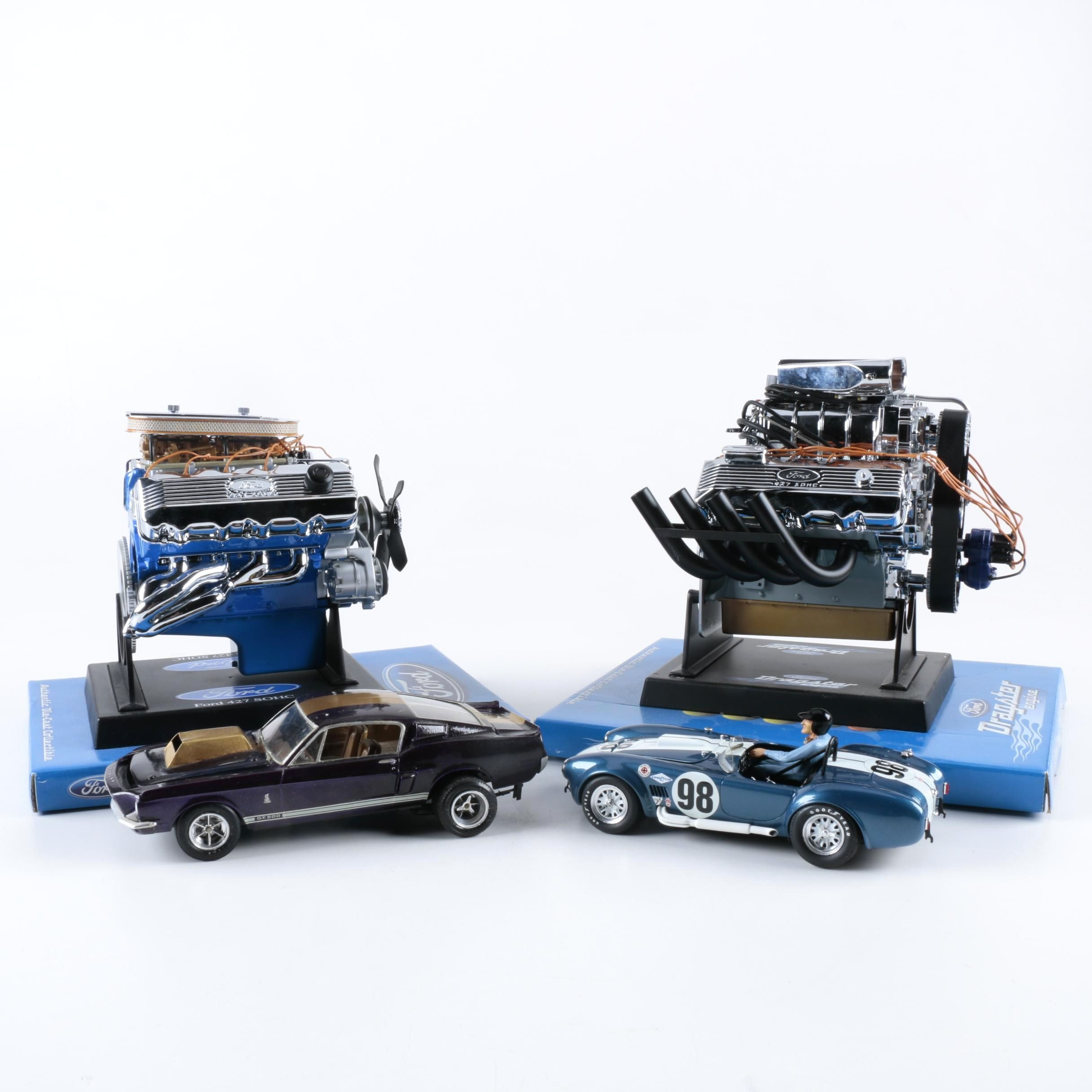 Assorted Die-Cast Cars and Engines