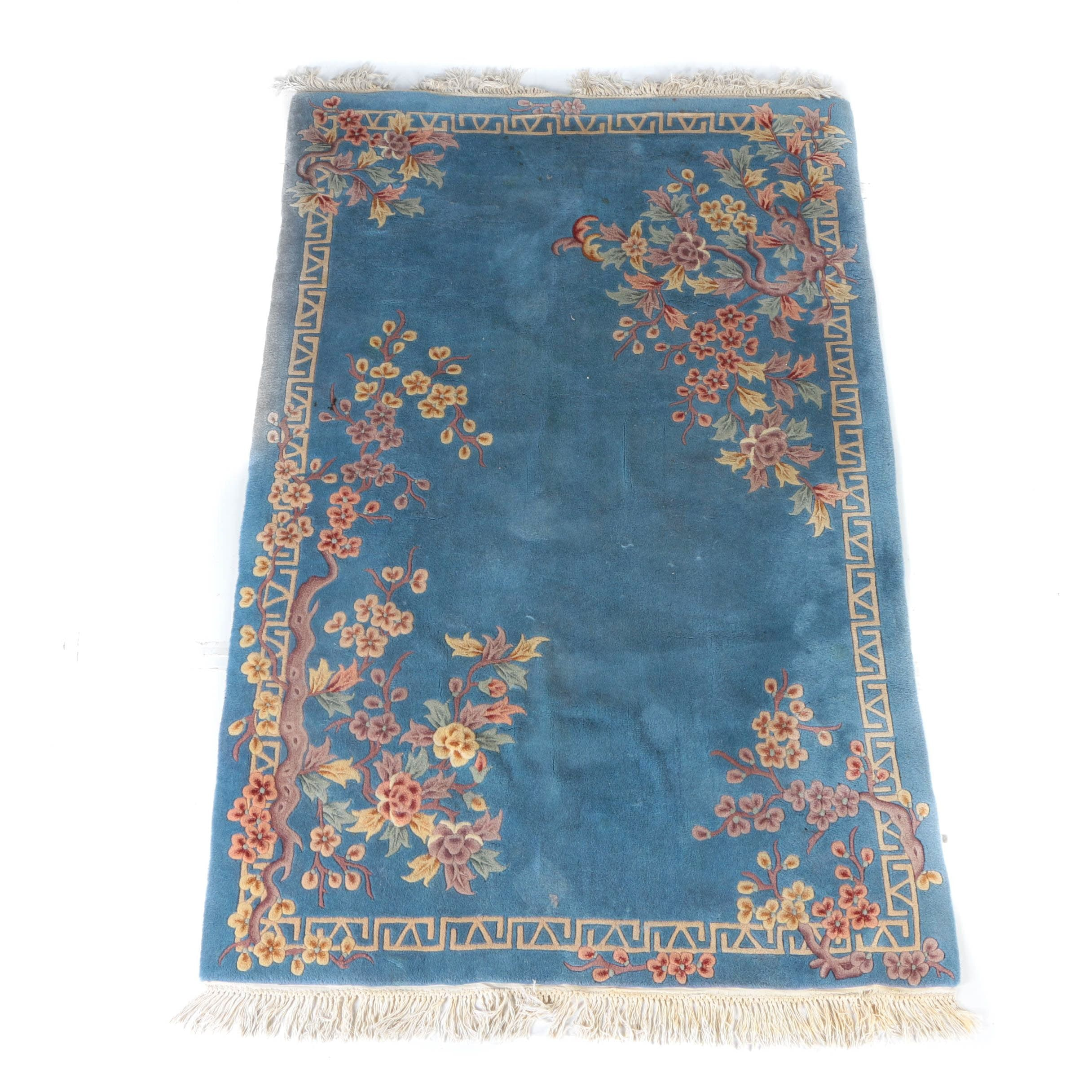 Tufted and Carved Chinese Nichols-Style Area Rug