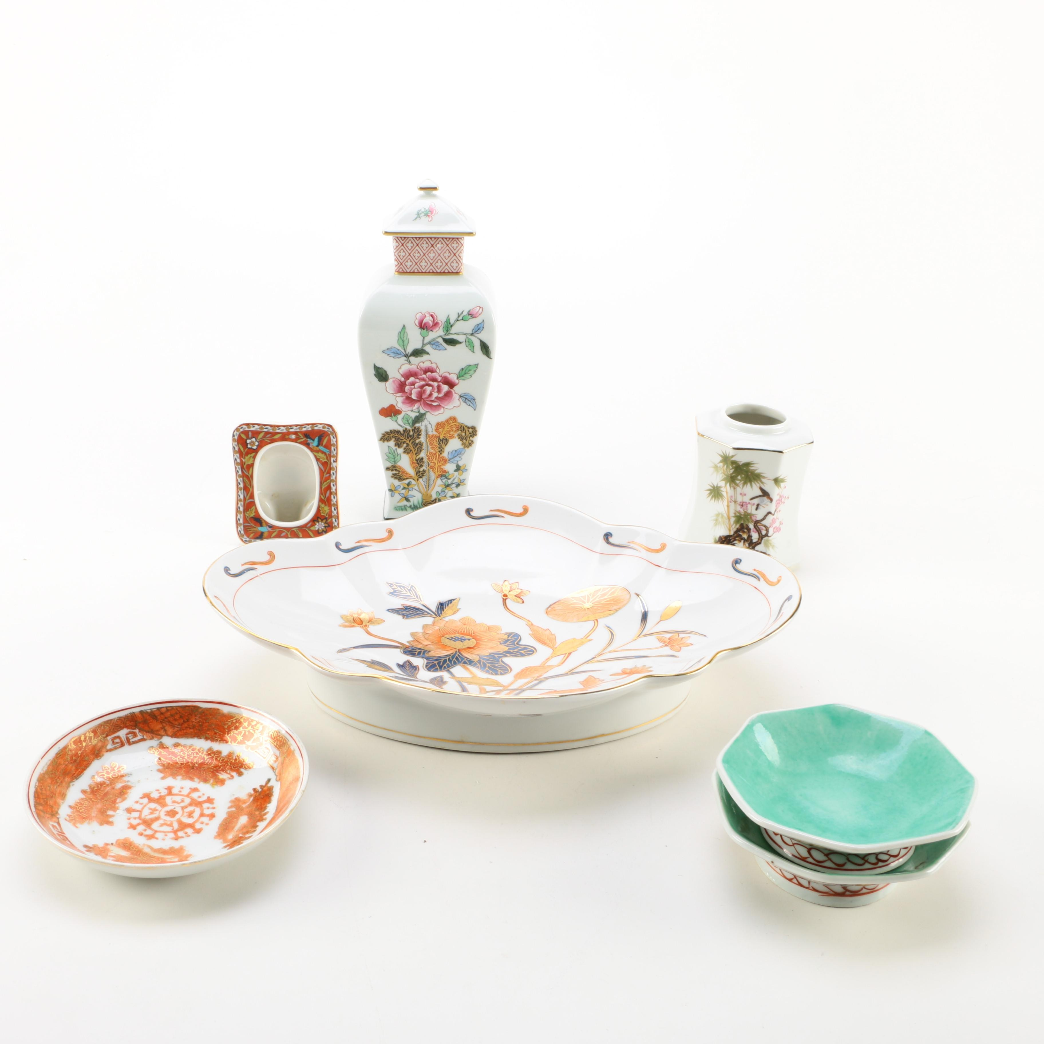 East Asian and Chinoiserie Ceramic Décor and Tableware Items