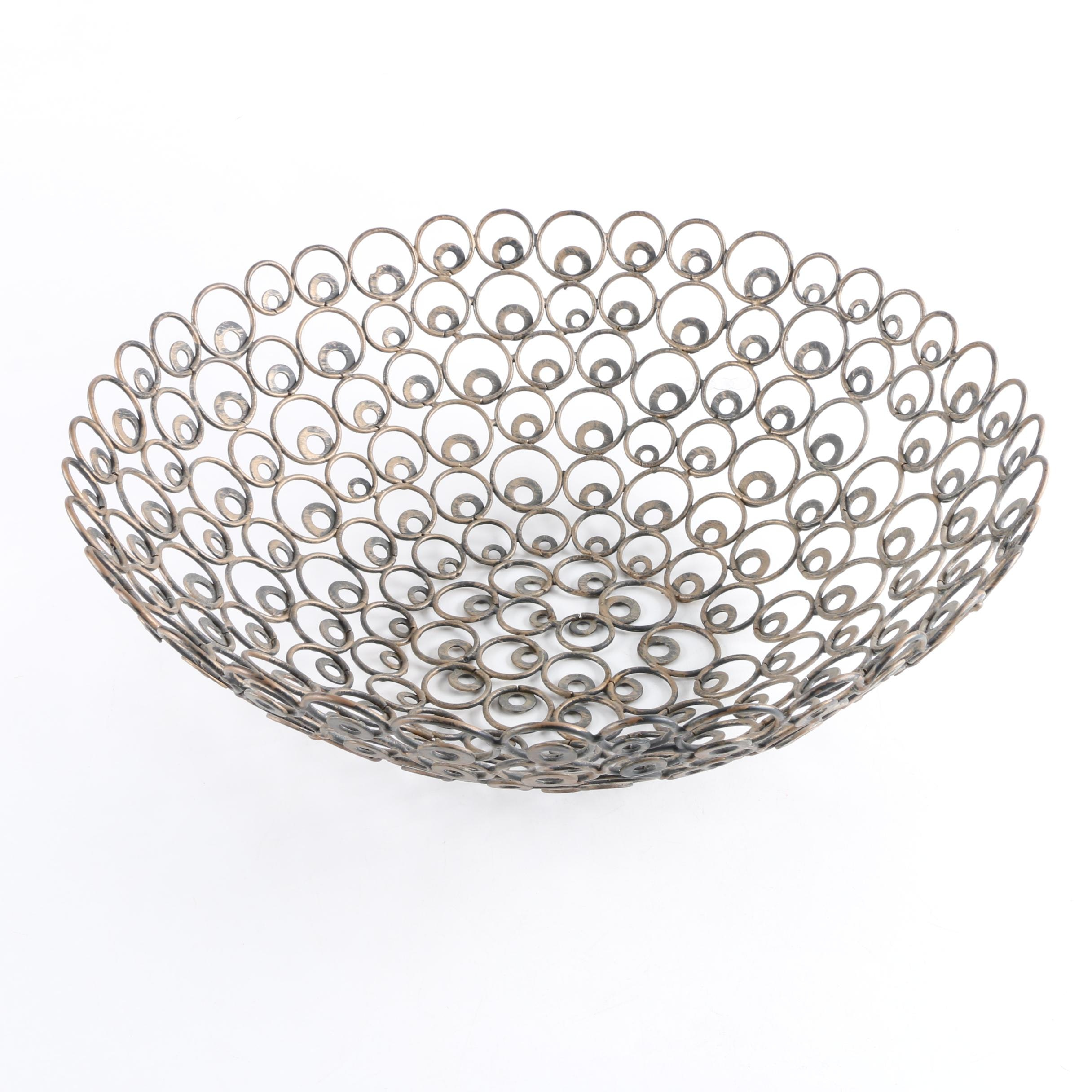 Metal Centerpiece Bowl
