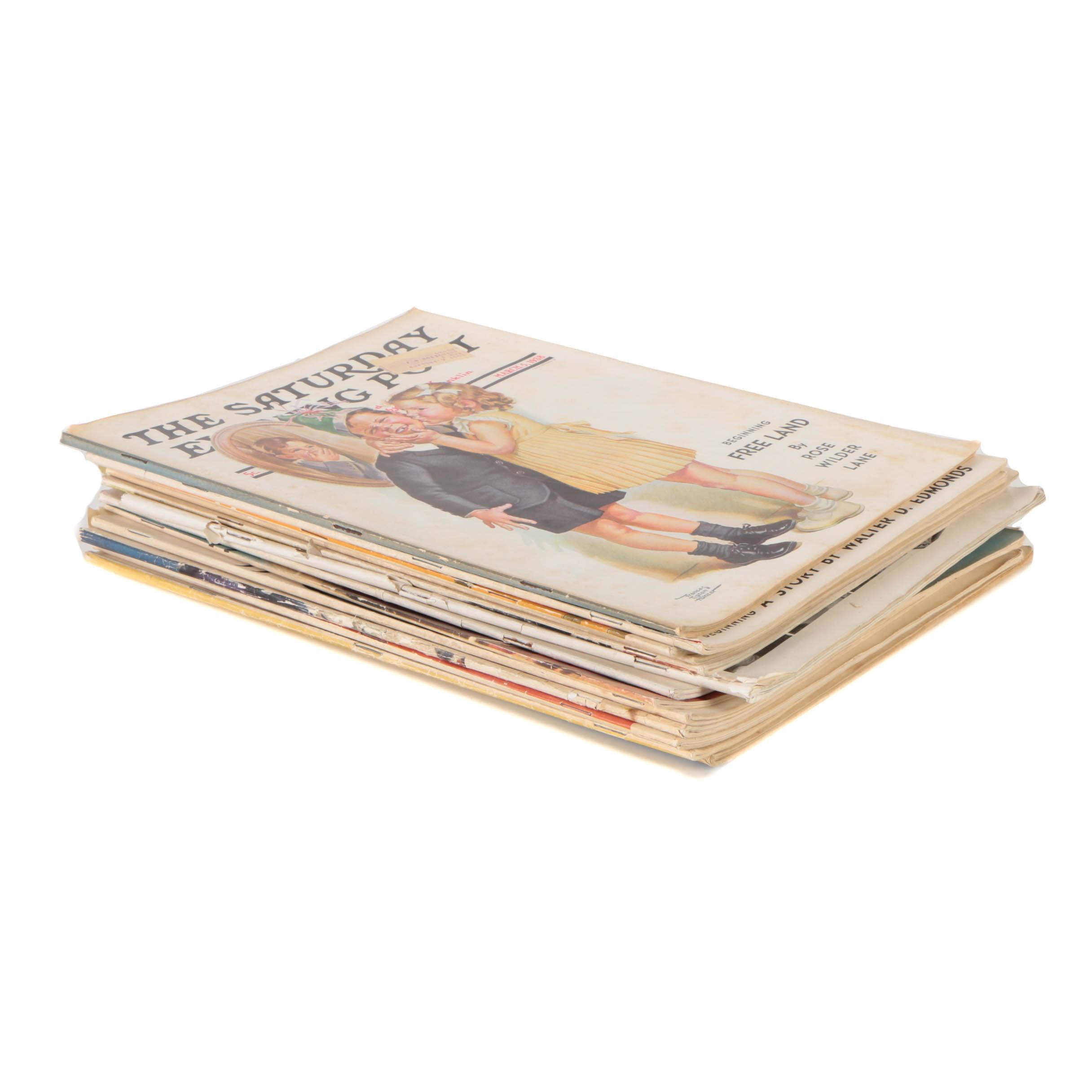 "Early to Mid Twentieth Century ""Saturday Evening Post"" Magazines"