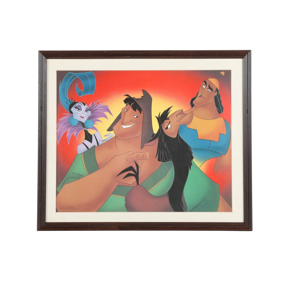 "Offset Lithograph ""The Emperor's New Groove"" Poster"