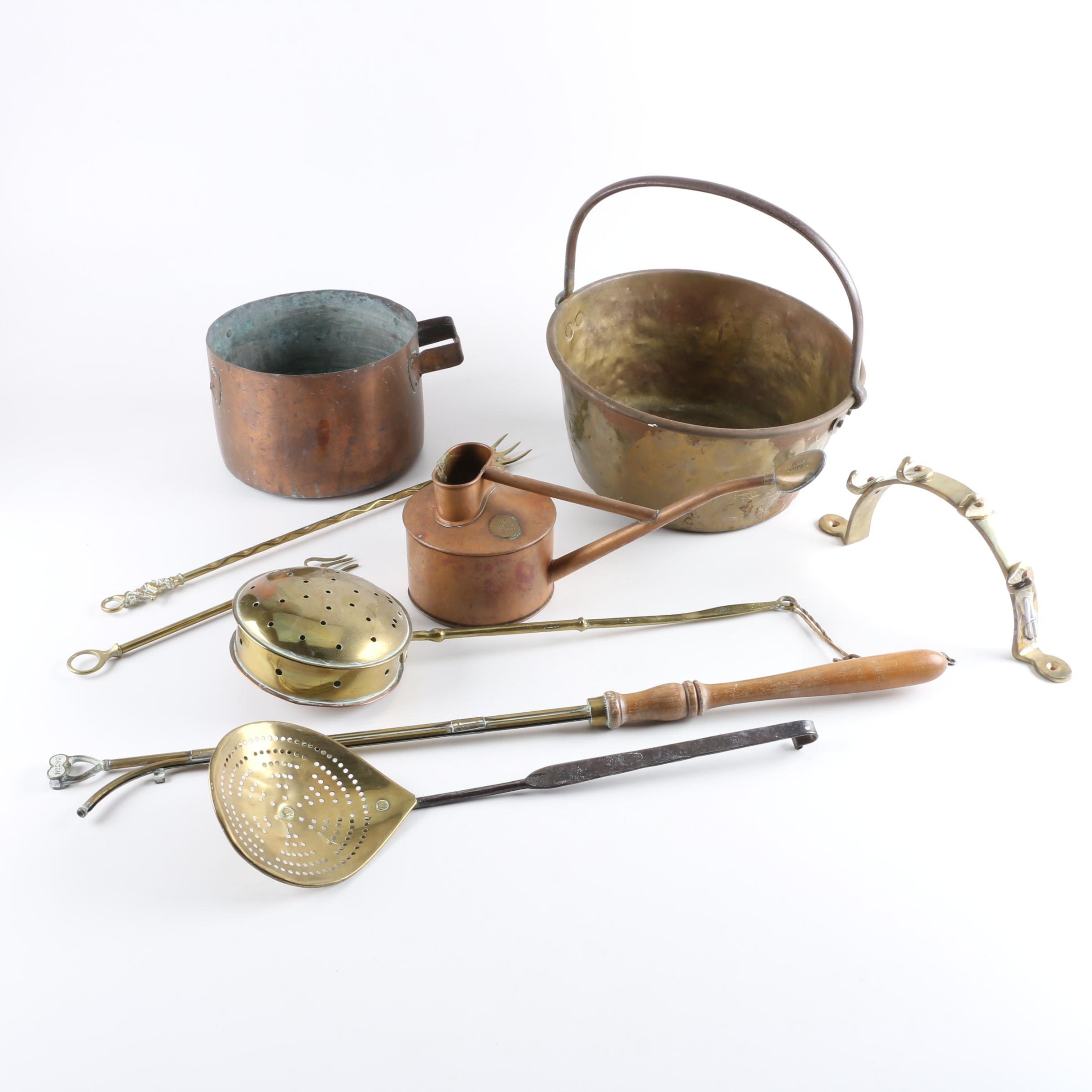 Brass and Copper Kitchenalia and Other Home Decor