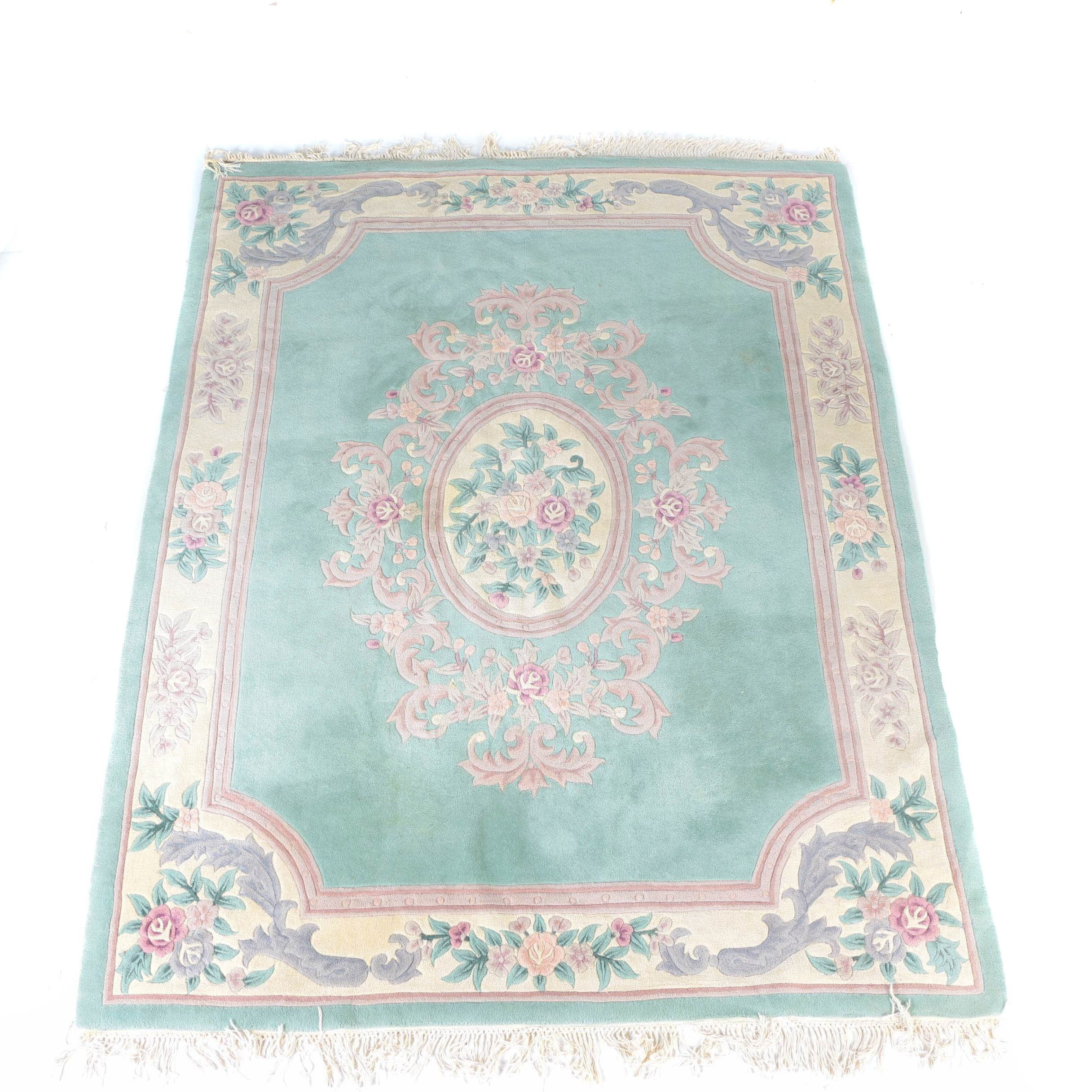 Large Tufted and Carved Chinese Area Rug
