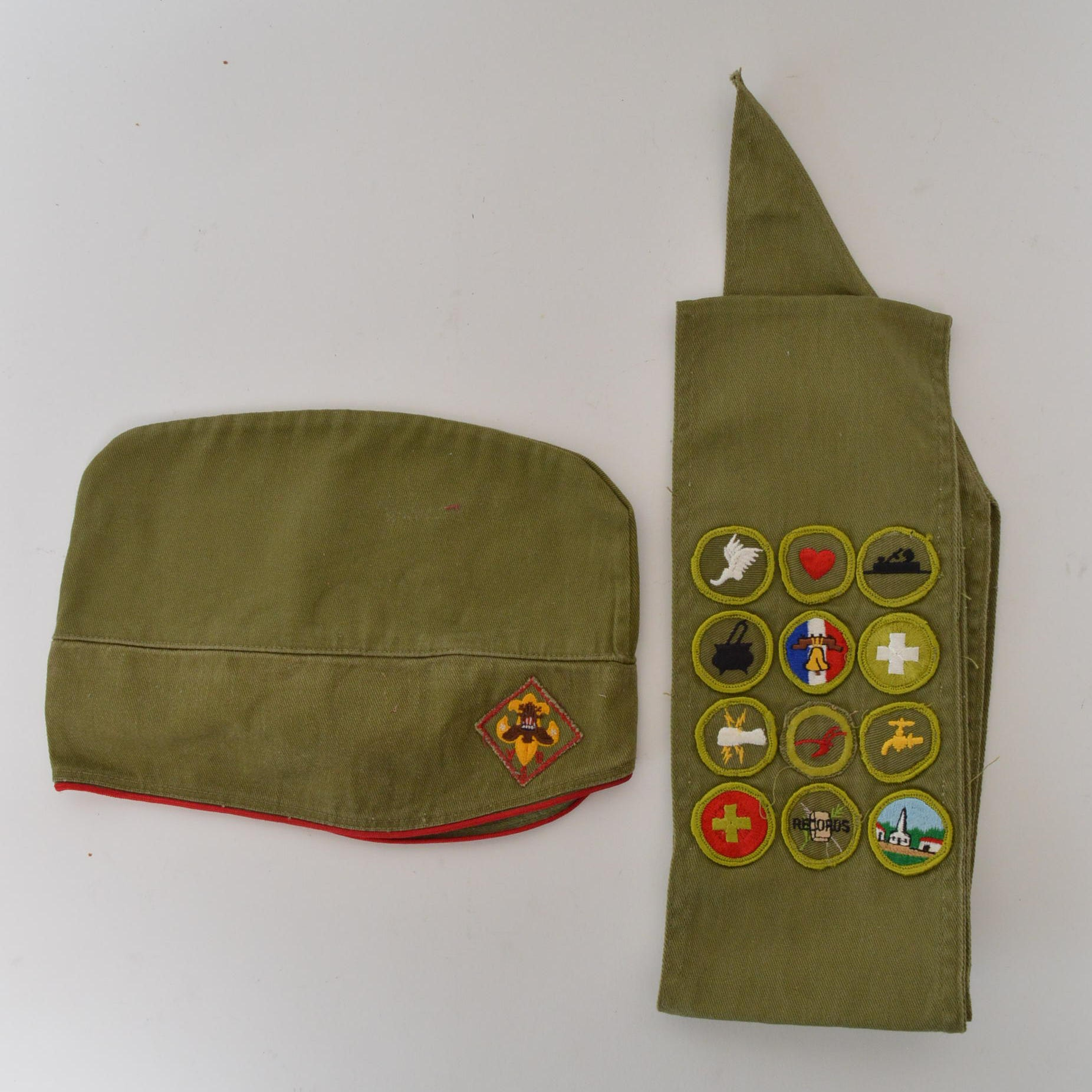 Vintage Boy Scout Hat and Sash