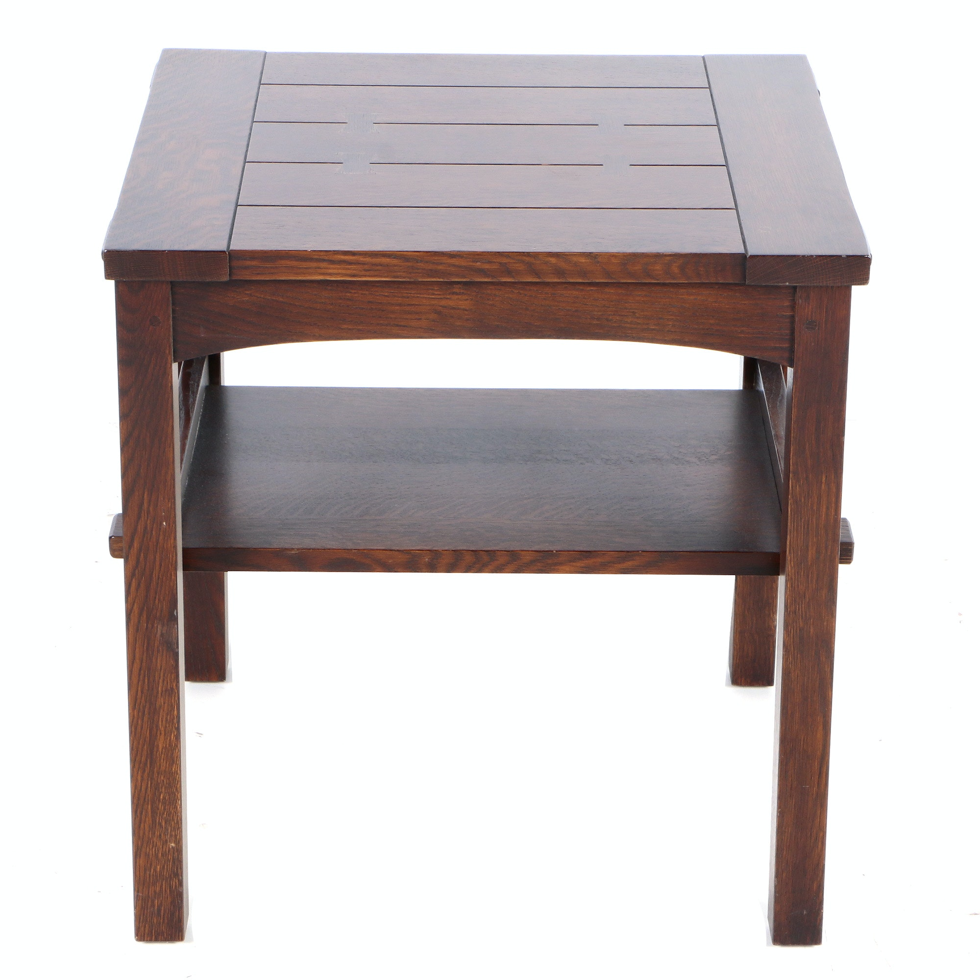 Quartersawn Oak End Table by Stickley