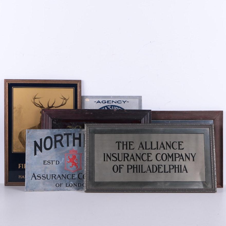 Antique Insurance Signage : EBTH