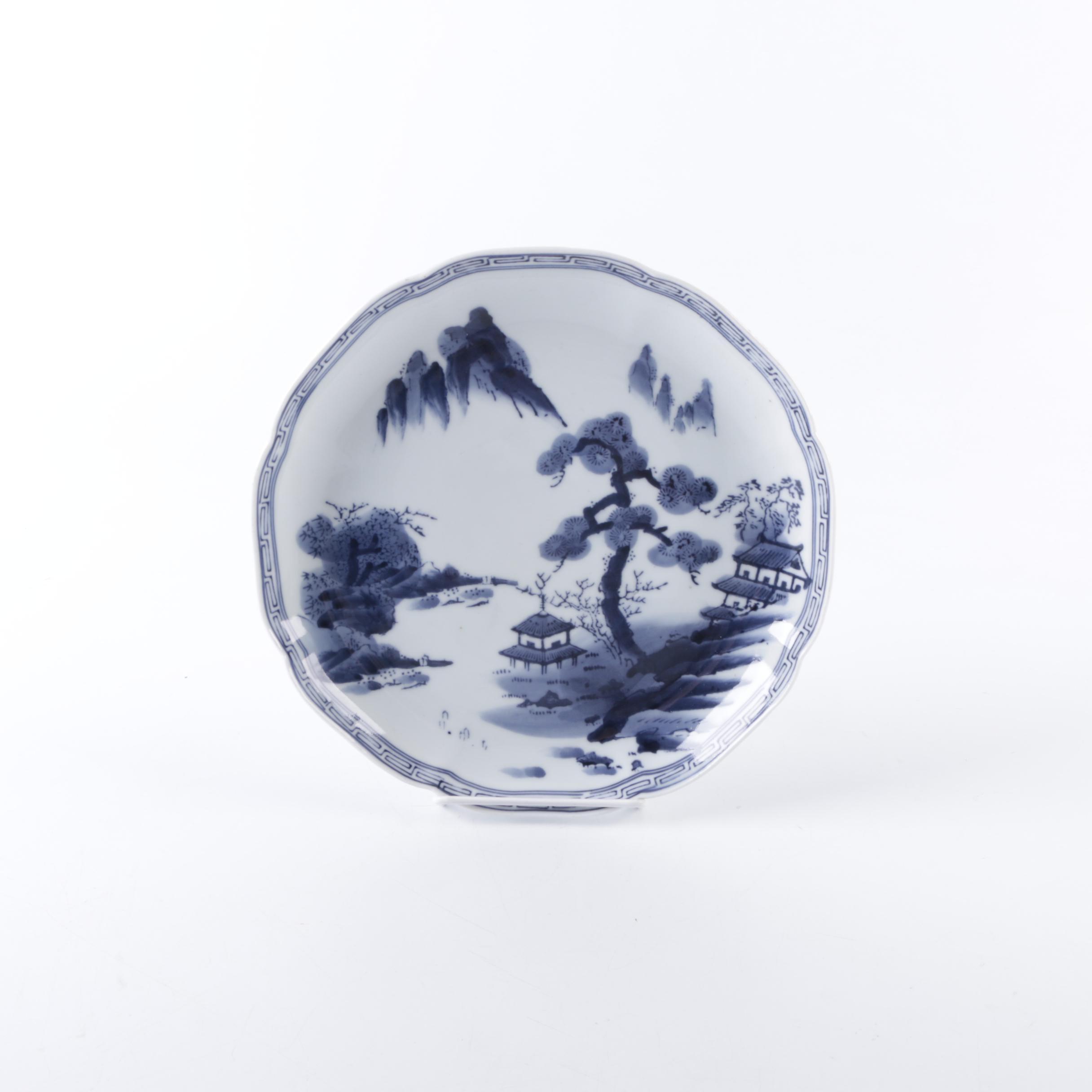 Eastern Asian Inspired Porcelain Plate