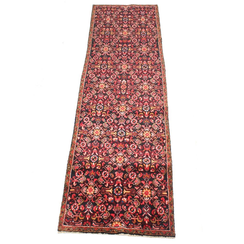 Hand-Knotted Semi-Antique Persian Lilihan Runner
