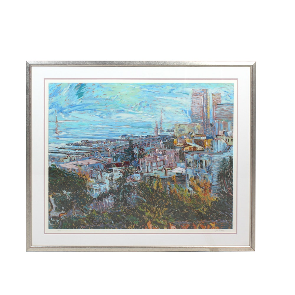"Serigraph ""View With Bay Bridge"" by Marco Sassone"