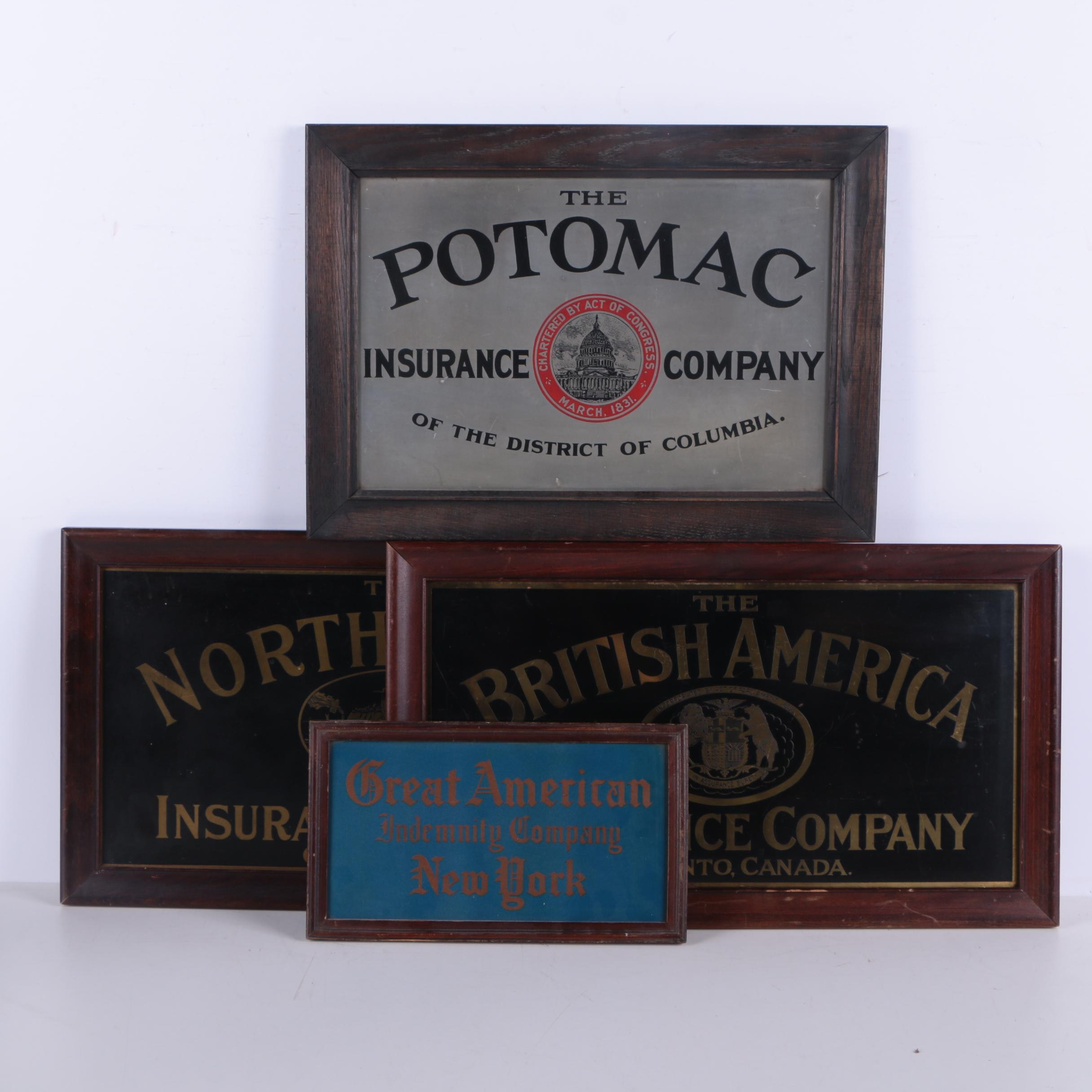 Assortment of Early 20th-Century Insurance Signs