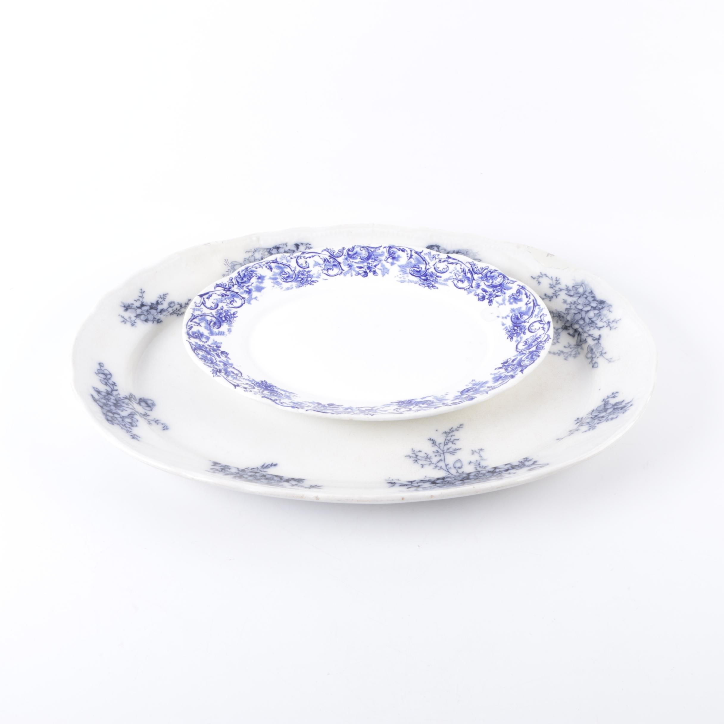 Late 19th Century John Maddock & Sons Porcelain Platter and More
