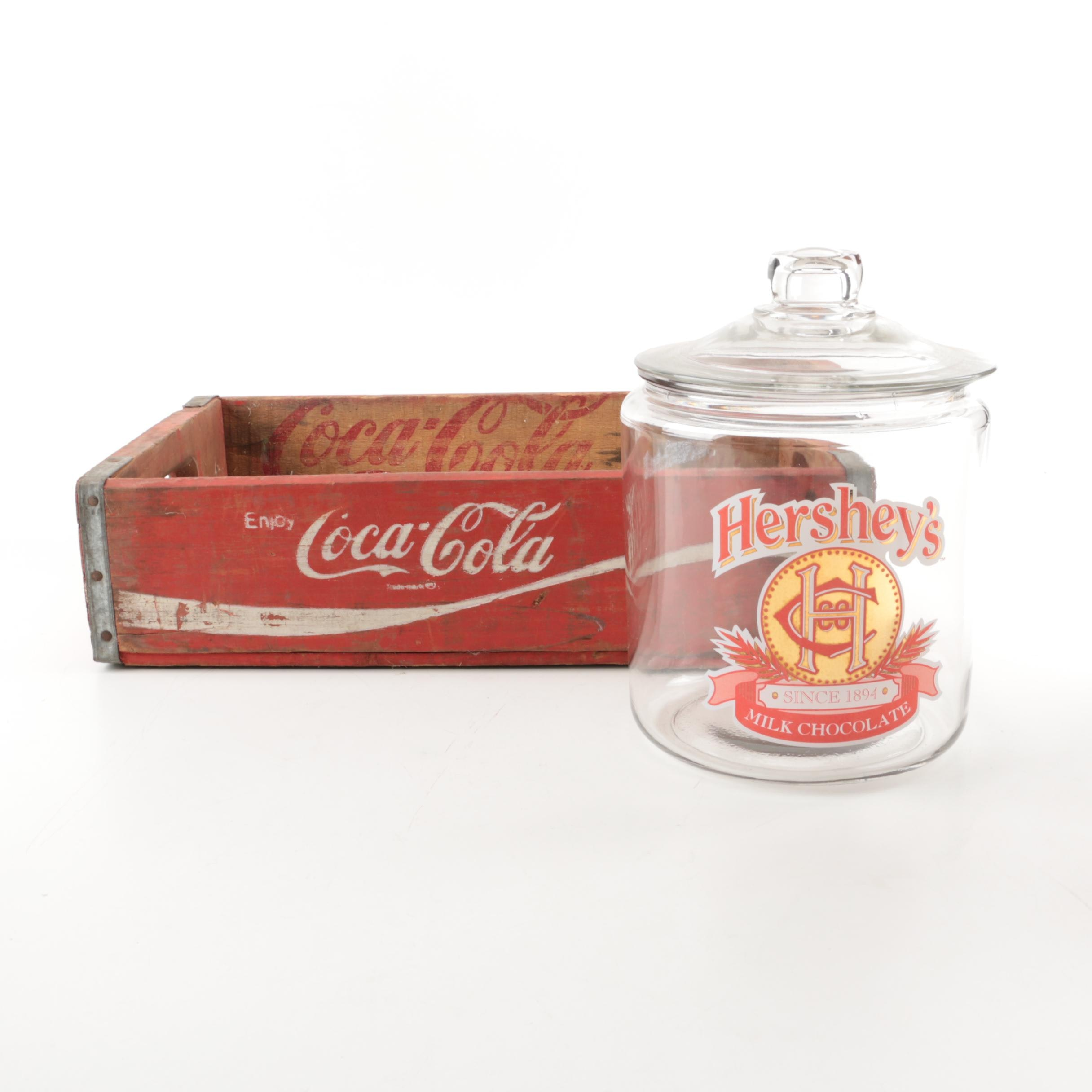 Vintage Coca-Cola and Hershey's Chocolate Containers