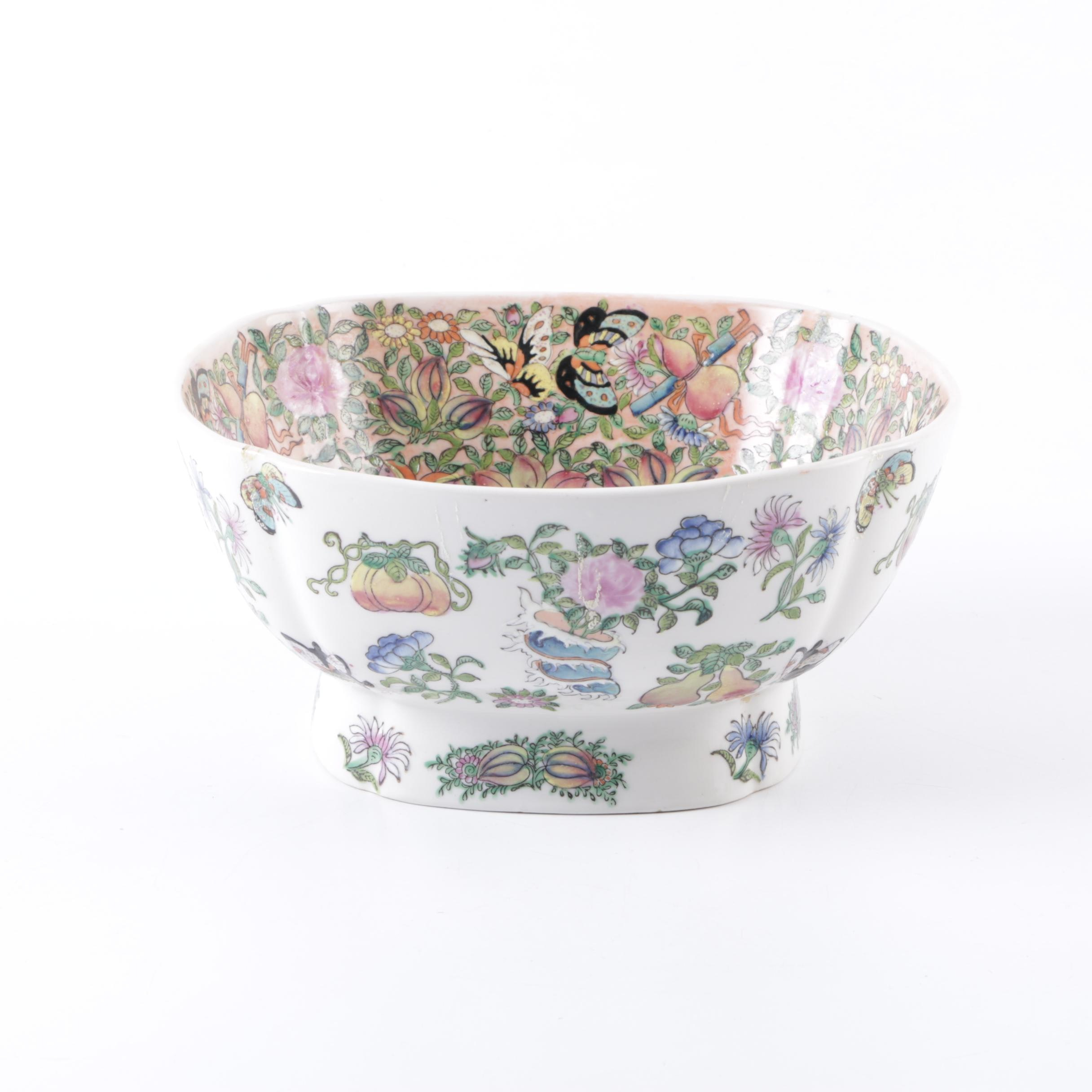 Chinese Floral Ceramic Bowl