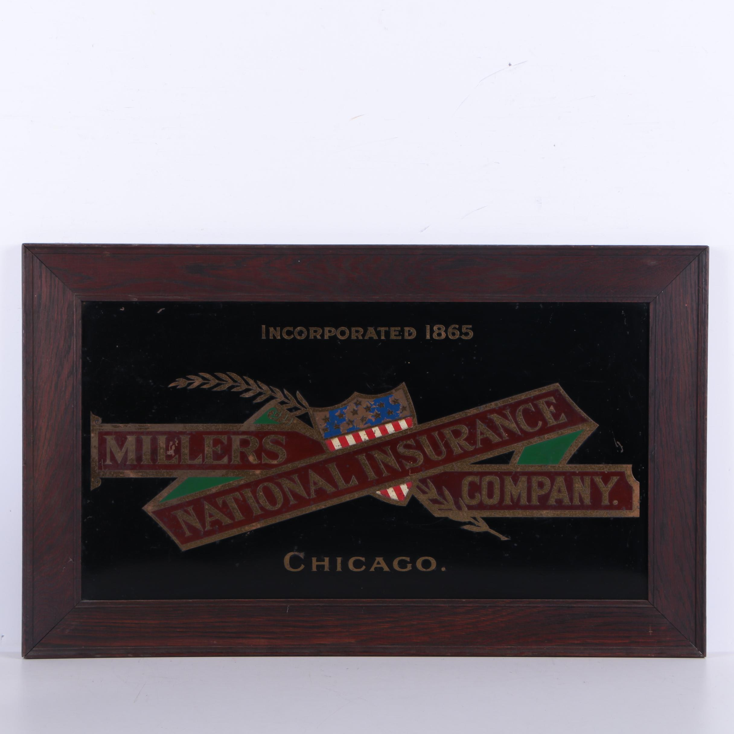 Millers National Insurance Co. Metal Sign