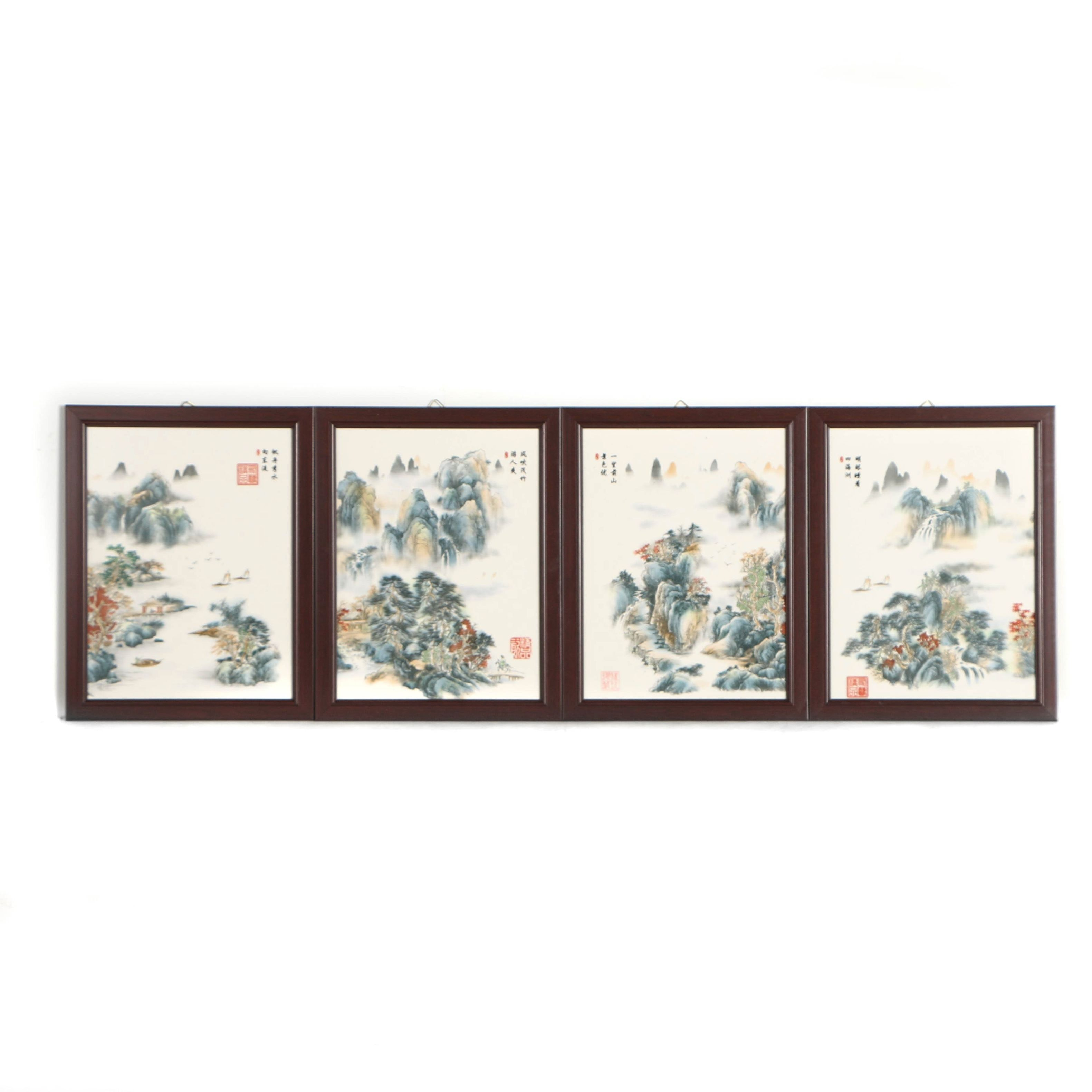 Chinese Offset Lithographs on Tile