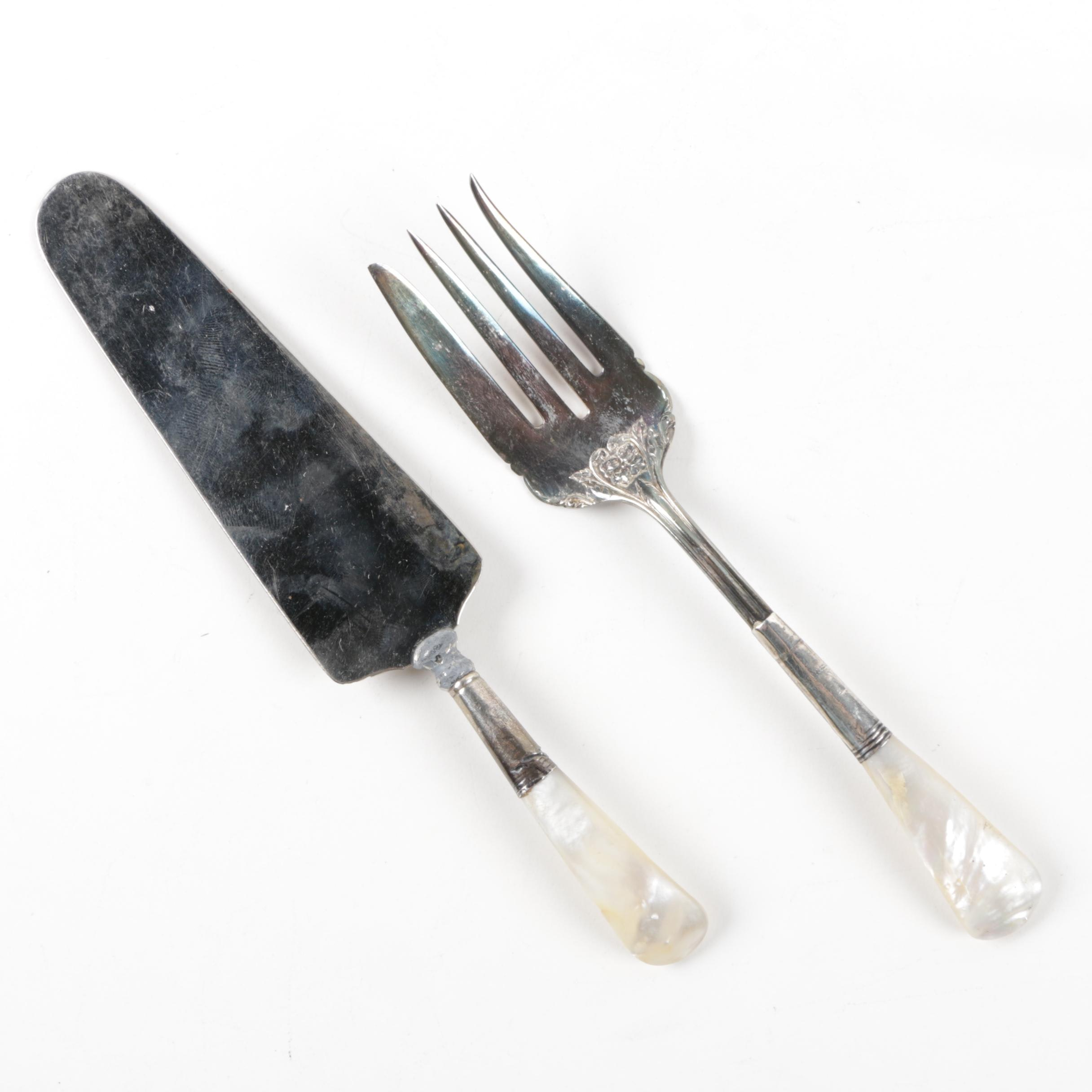Mother-of-Pearl Handled Serving Utensils