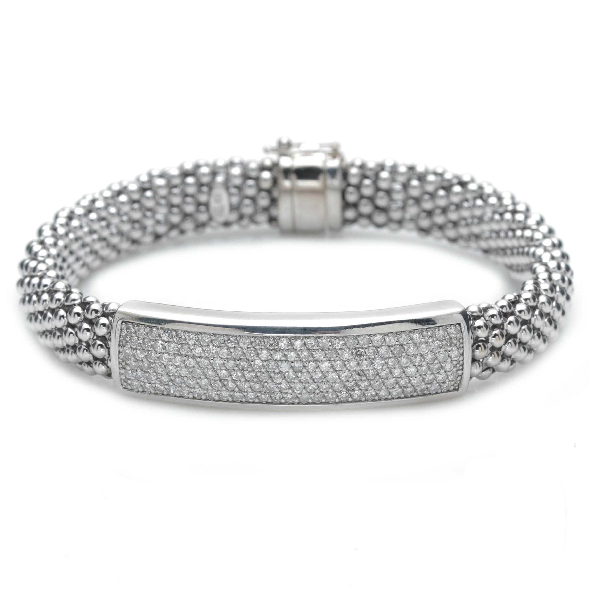14K White Gold and 2.24 CTW Diamond Bracelet