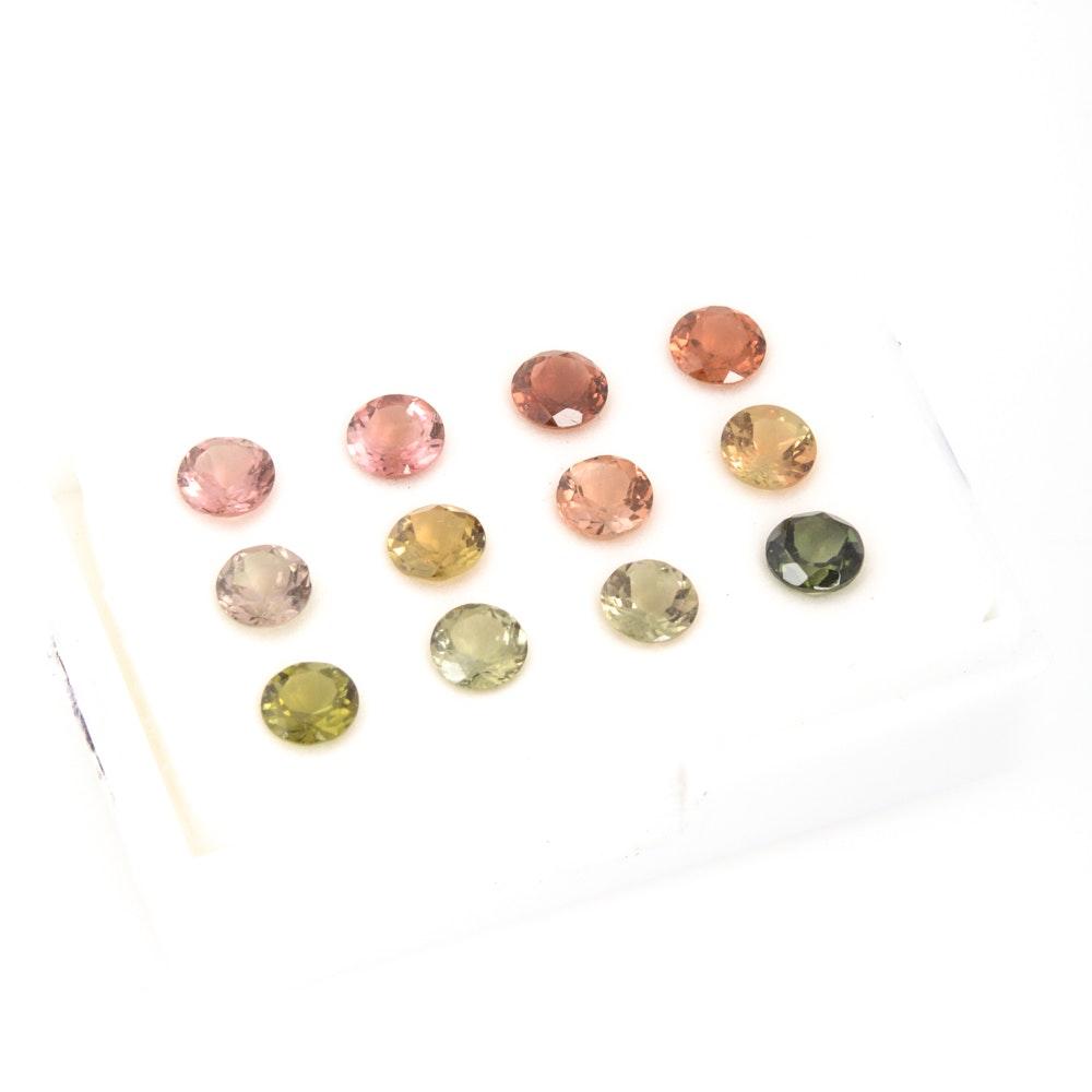 10.14 CTW Tourmaline Loose Gemstones