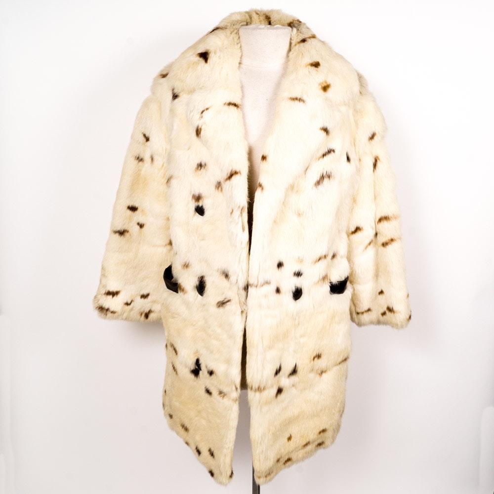 Vintage Dyed Rabbit Fur Coat