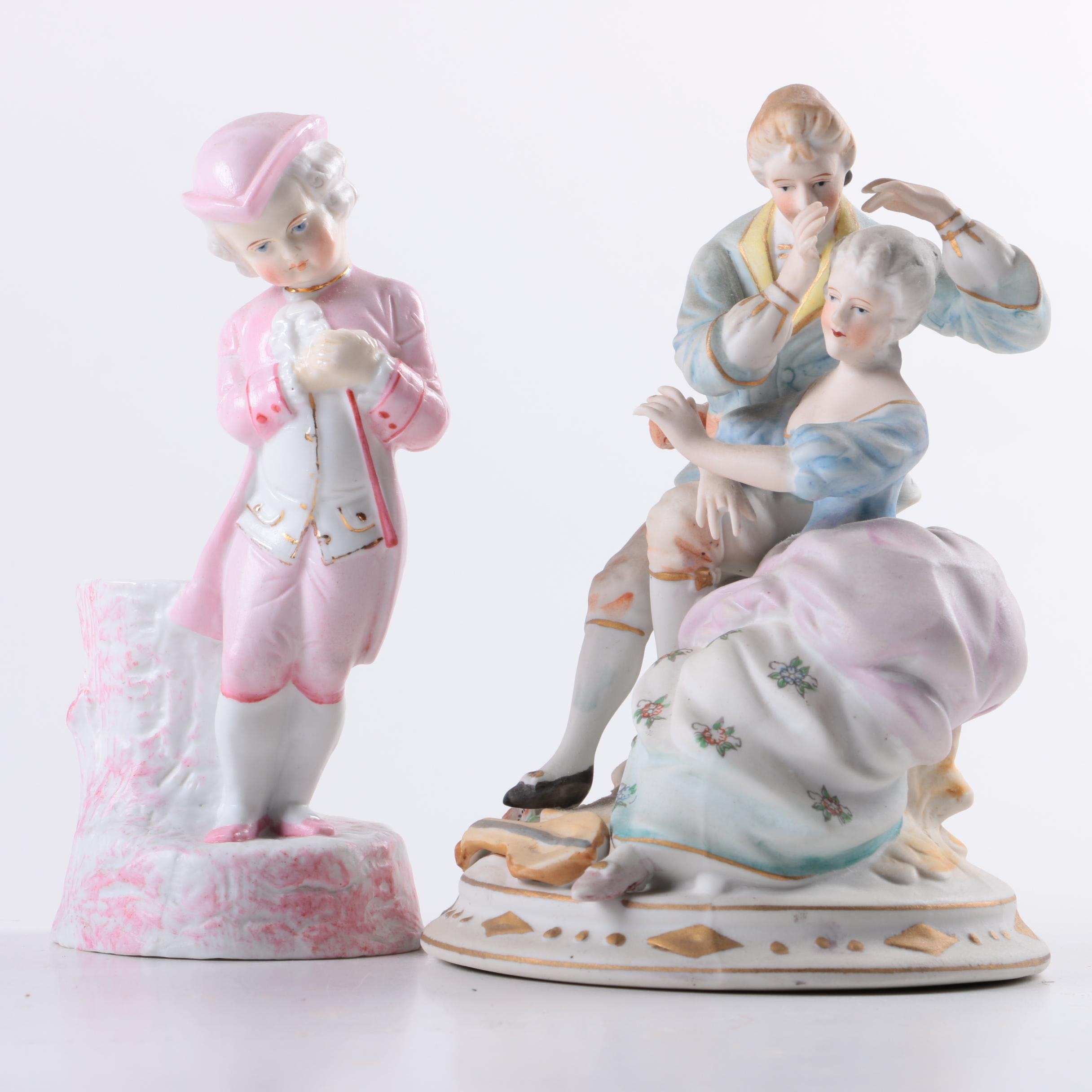 Pair of Porcelain Victorian Figurines