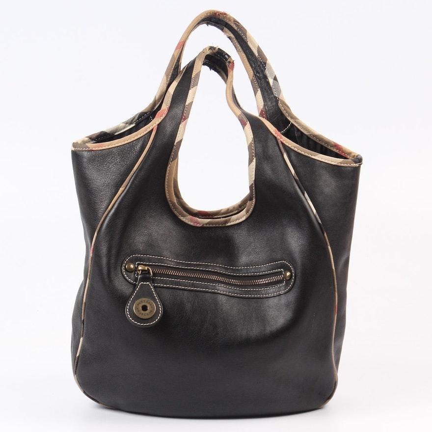 d5833772dad4 Burberry London Black Leather Handbag   EBTH