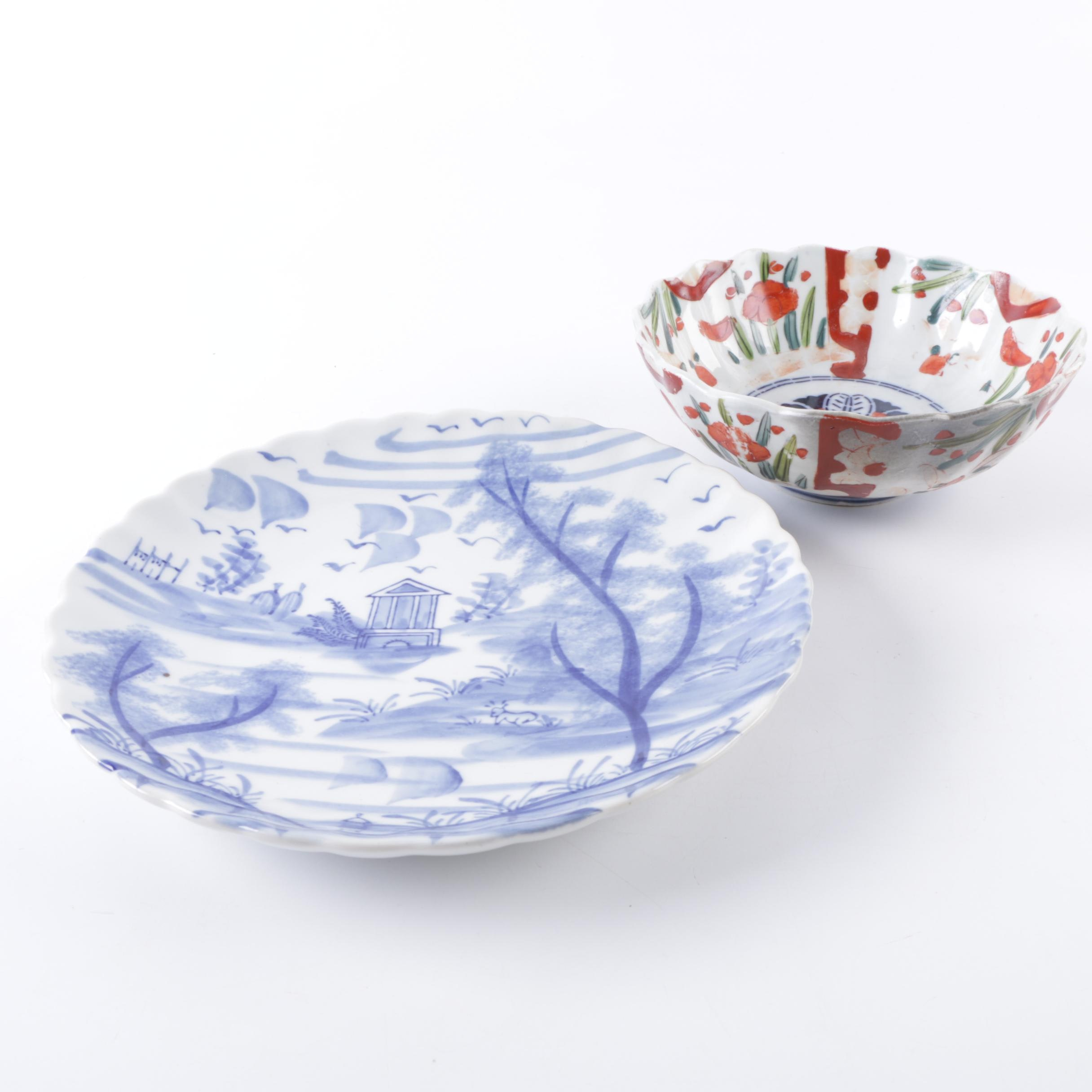 Chinese Ceramic Plate And Bowl
