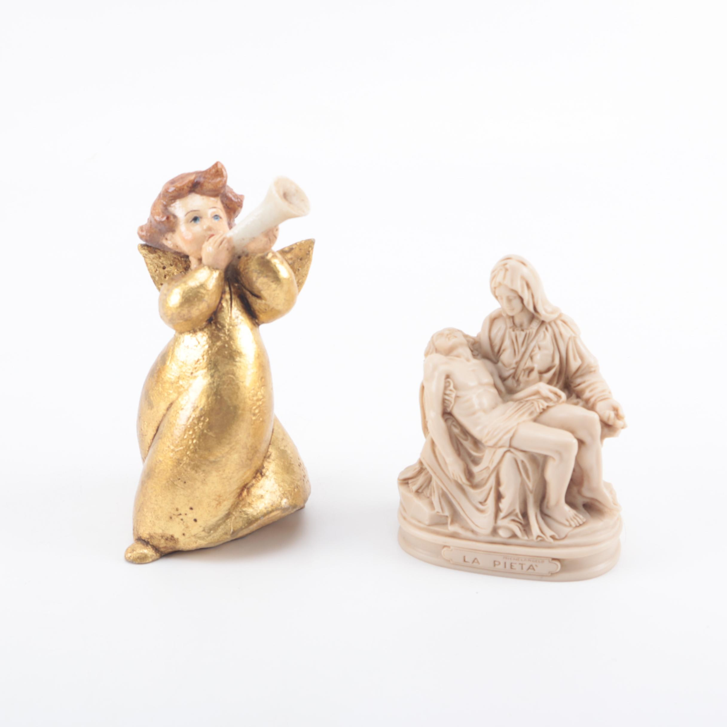Resin Angel and Religious Figurines