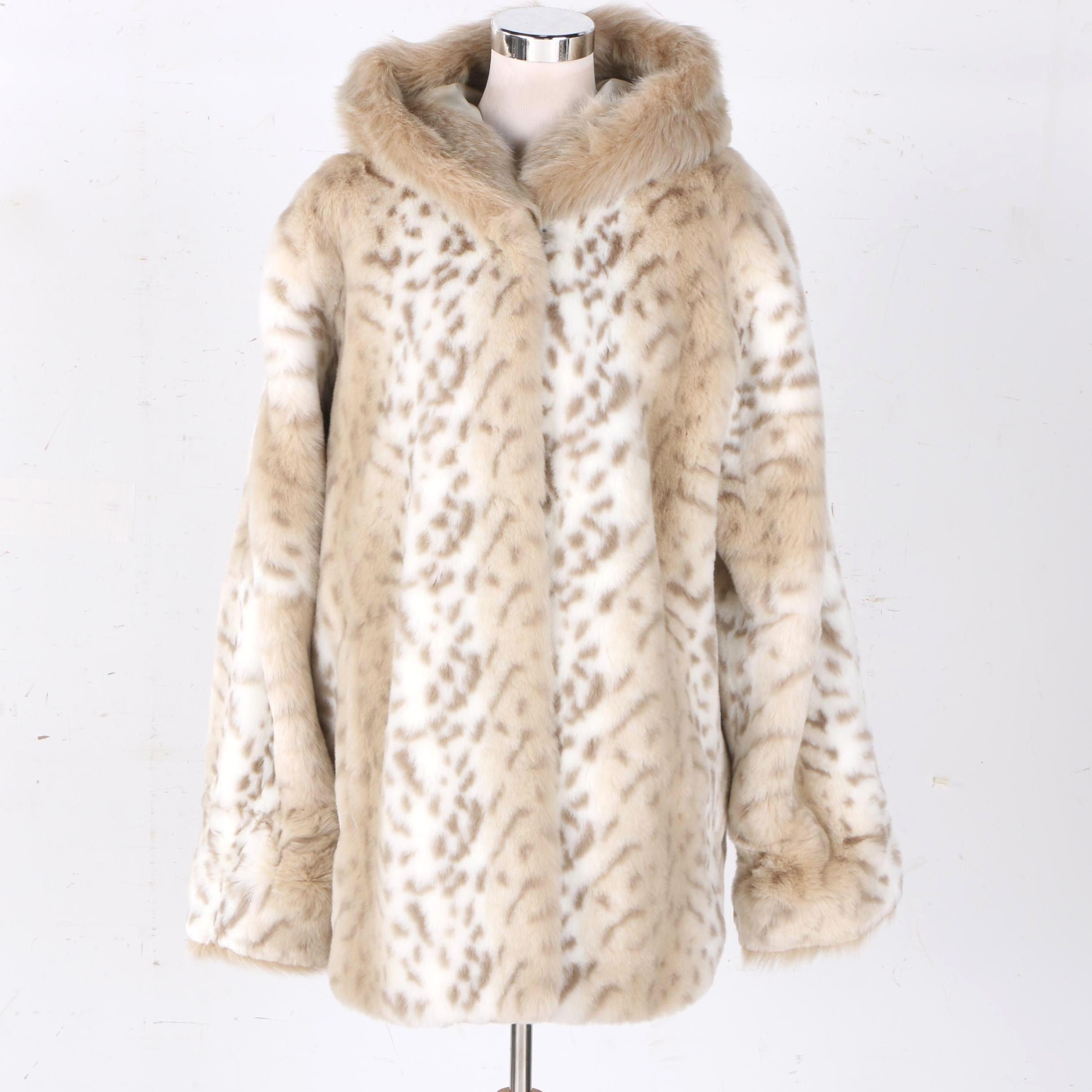 Coldwater Creek Women's Faux Fur Hooded Jacket