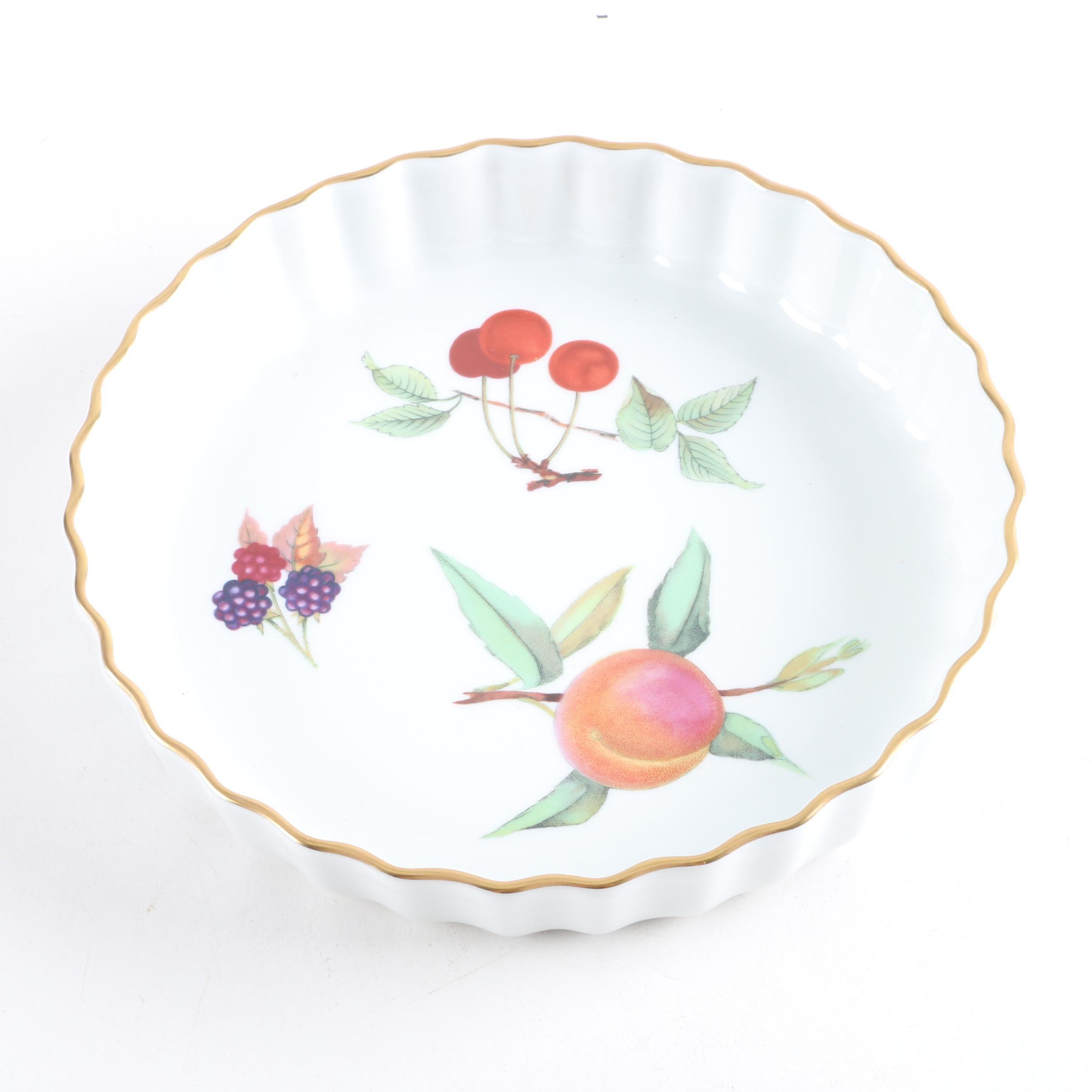 "Royal Worcester ""Evesham"" Porcelain Quiche Pan"