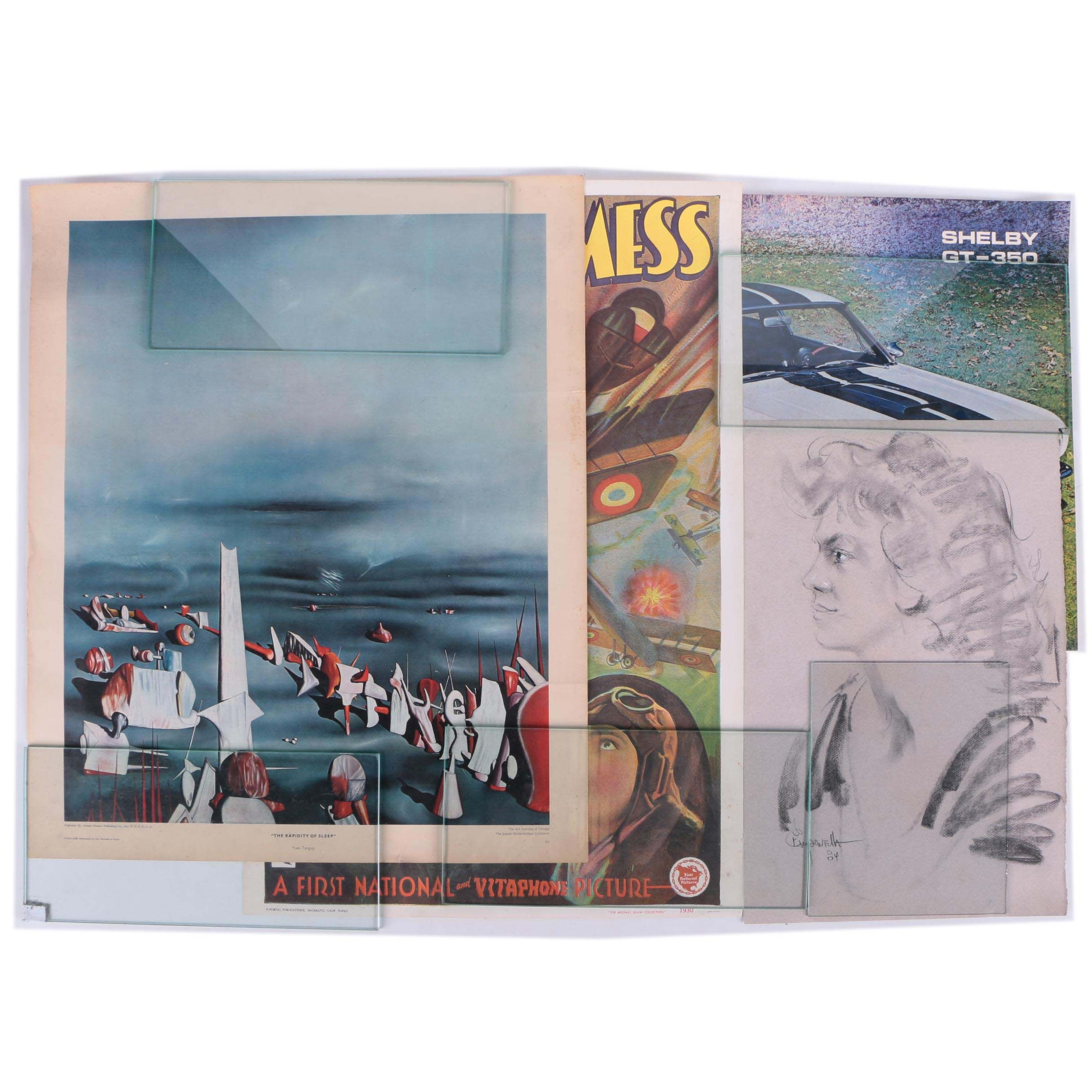 "Offset Lithograph Print After Yves Tanguy and Film Poster for ""The Dawn Patrol"""