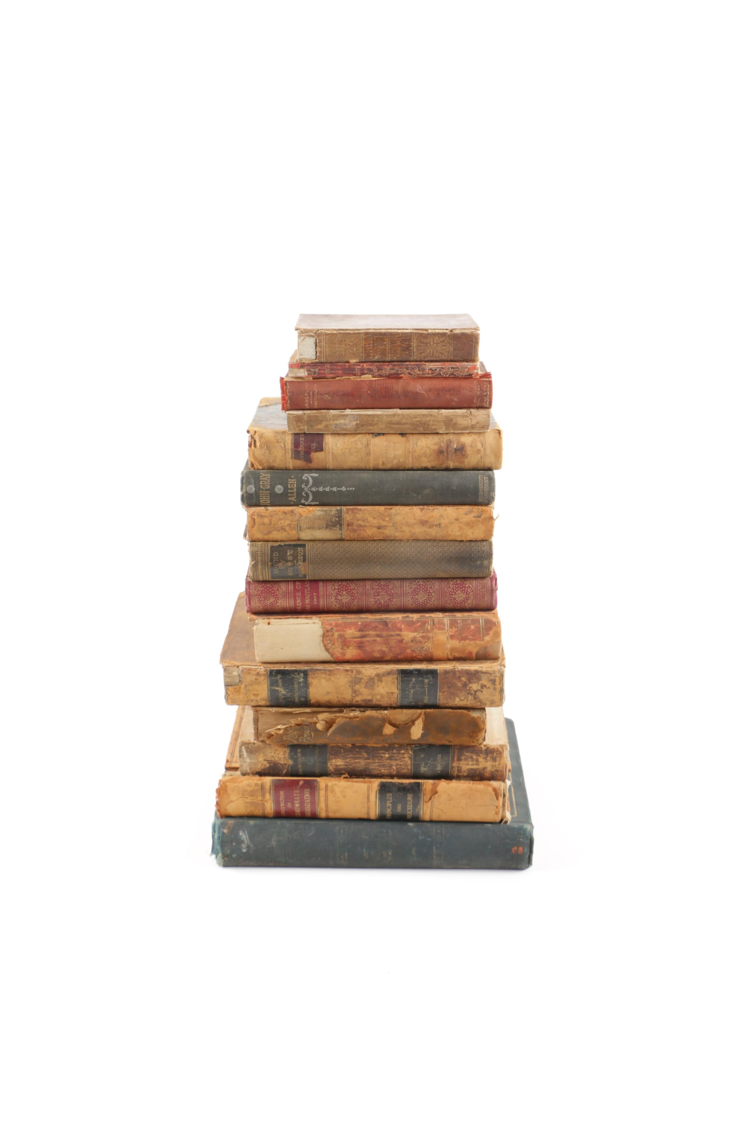 Antique Book Assortment Including 1819 Encyclopedia Volumes