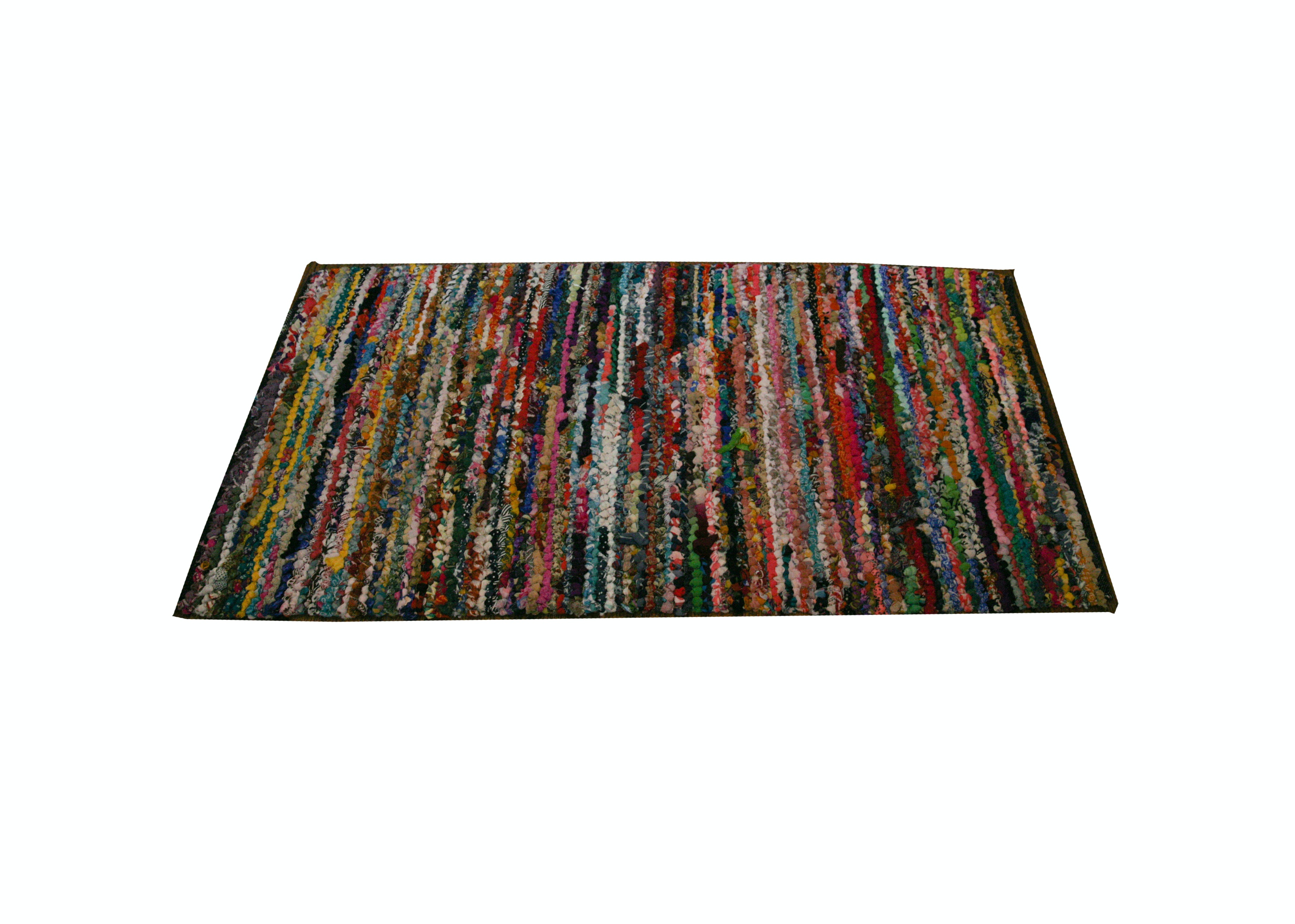 Colorful Woven Flat Weave Area Rug Ebth