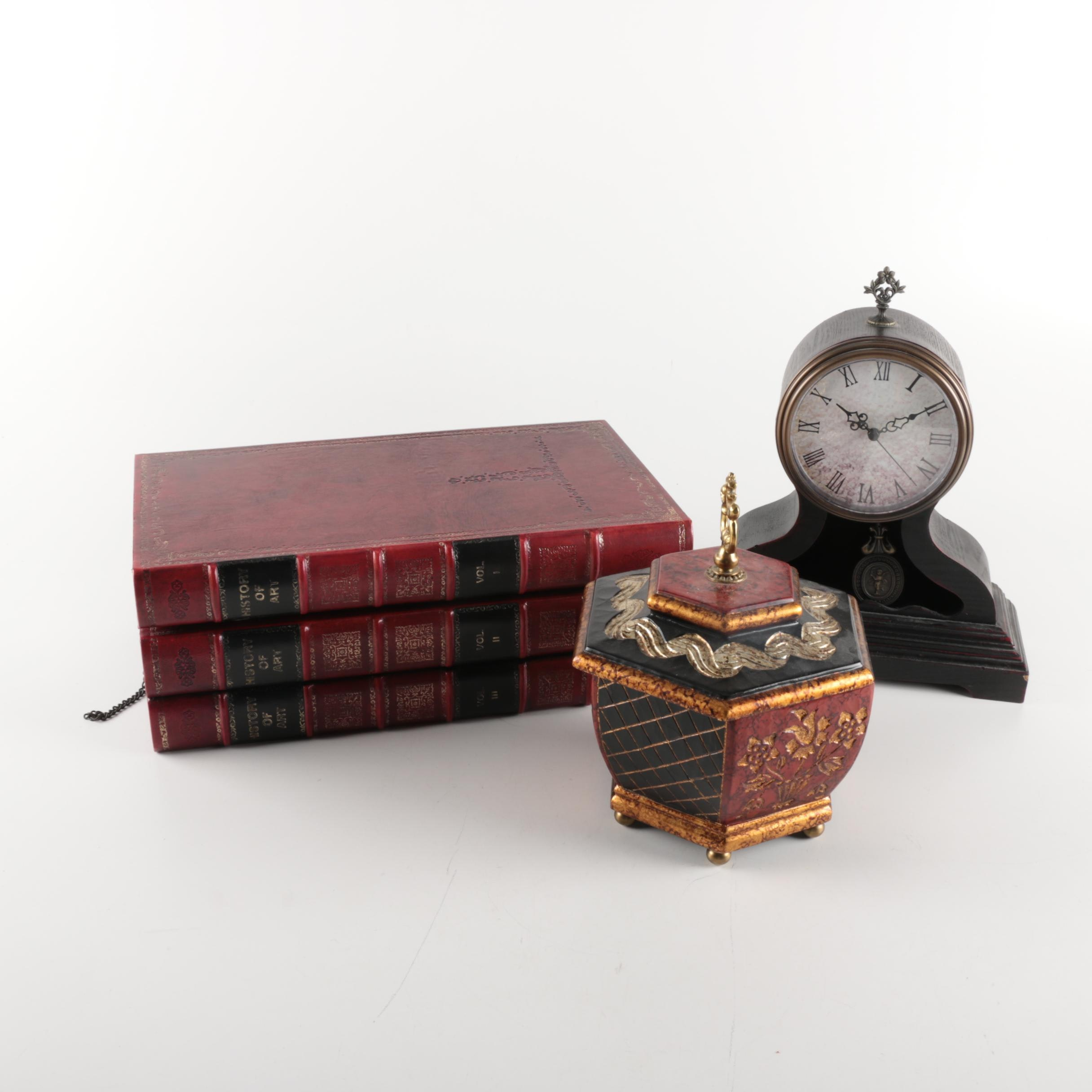 Decorative Boxes and Mantel Clock