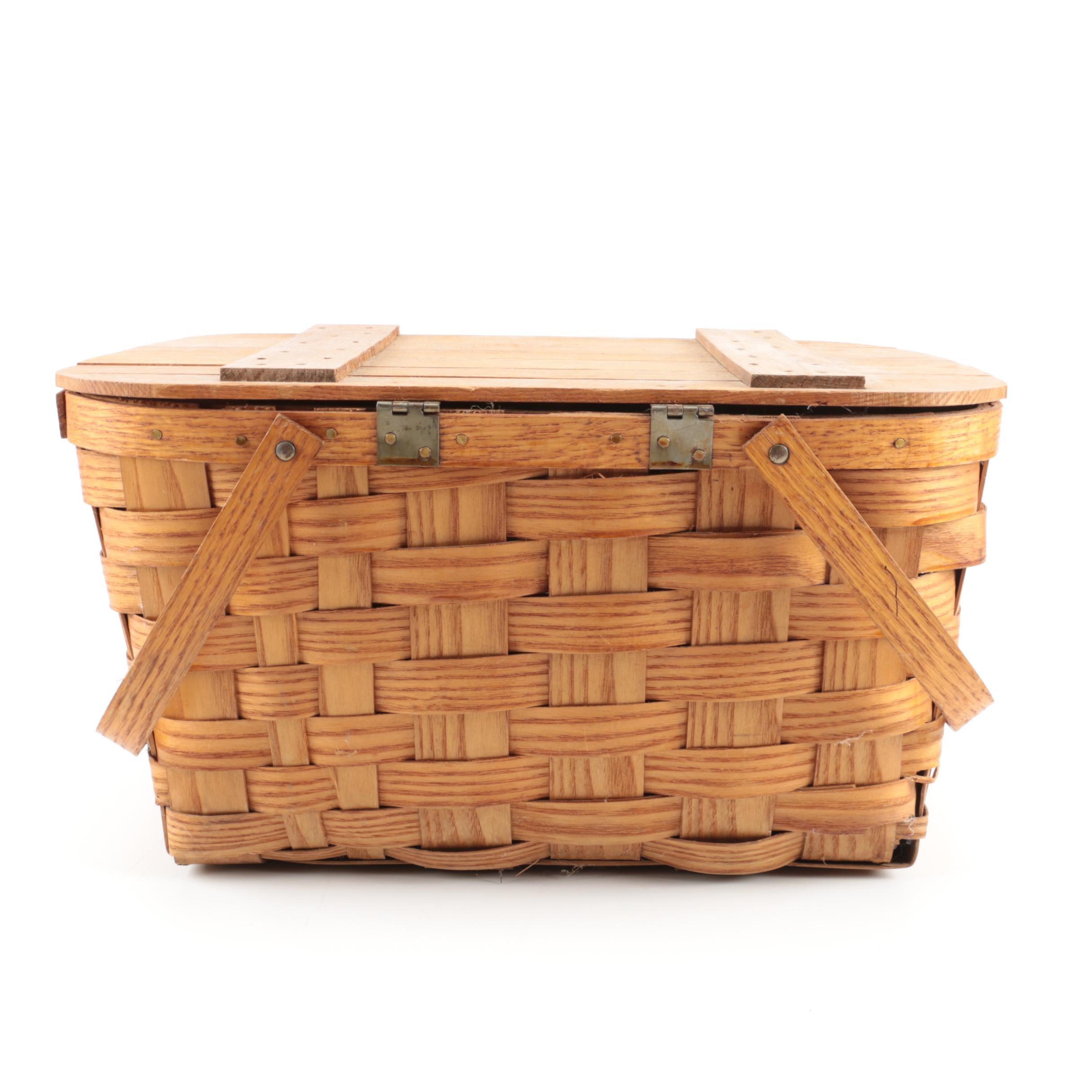 Wood Picnic Basket