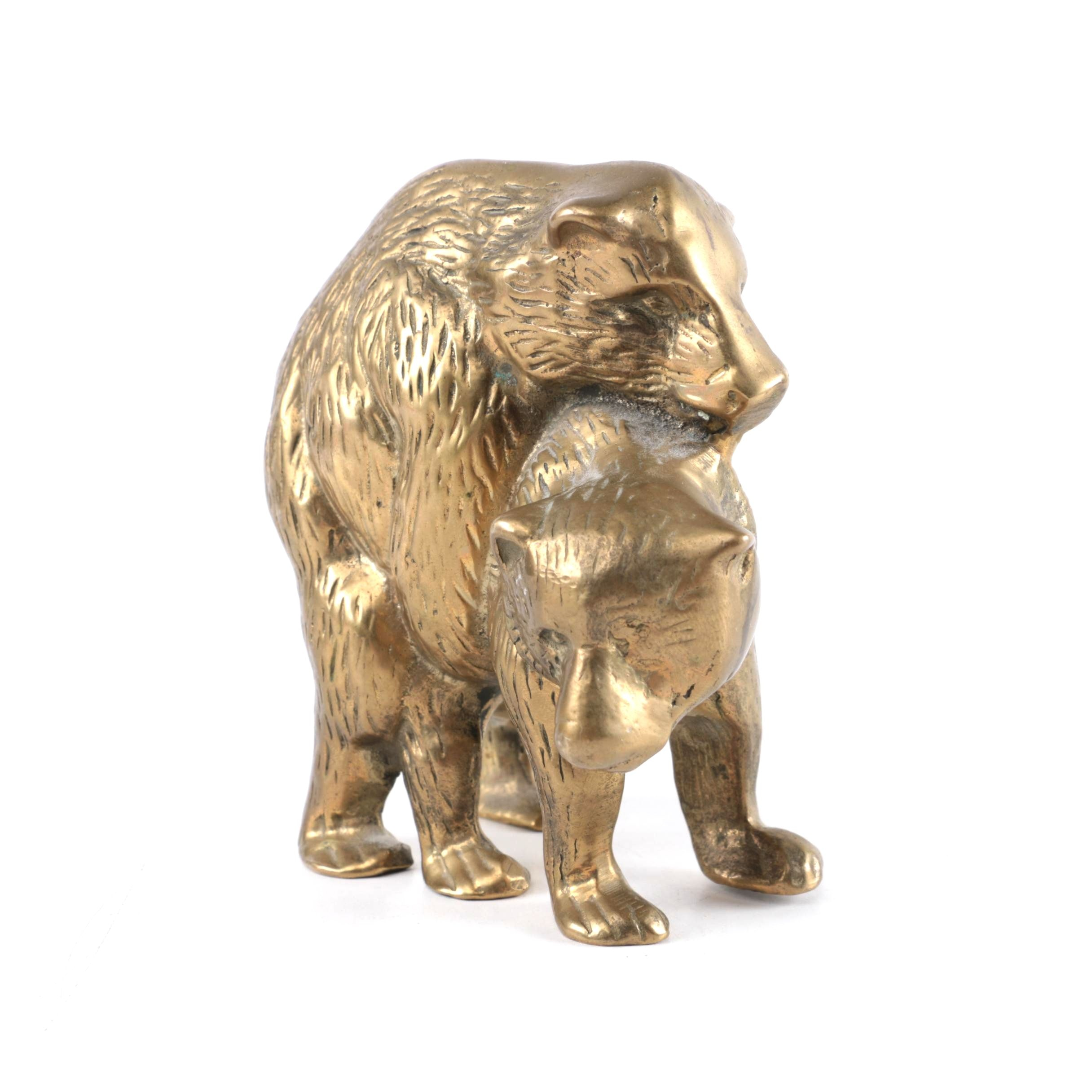 Brass Figurine of Two Mating Bears