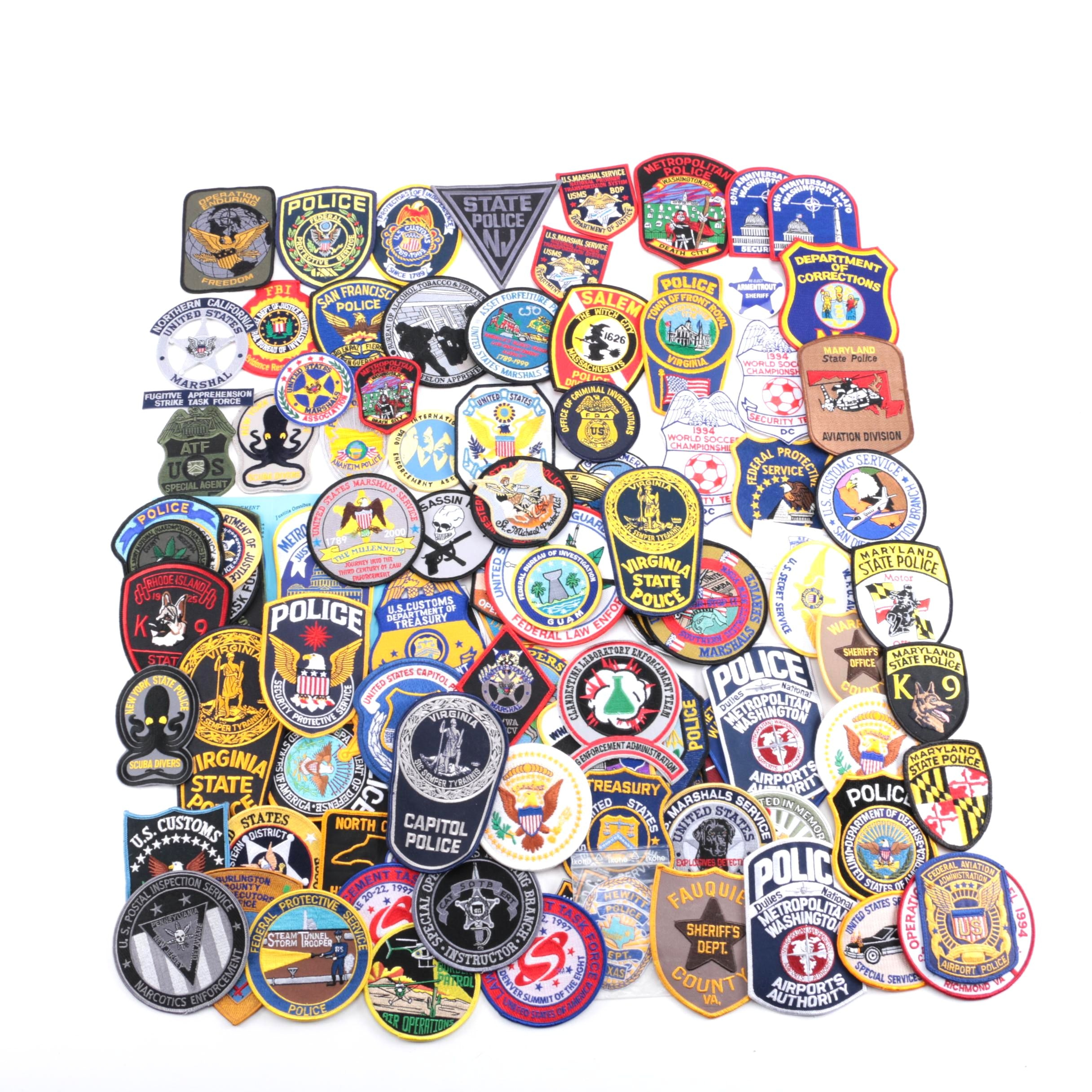 Collection of Civil Service Patches