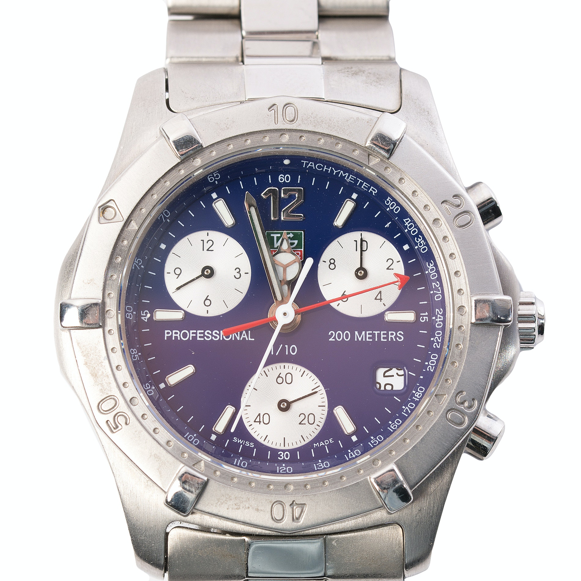 Stainless Steel Tag Heuer Wristwatch