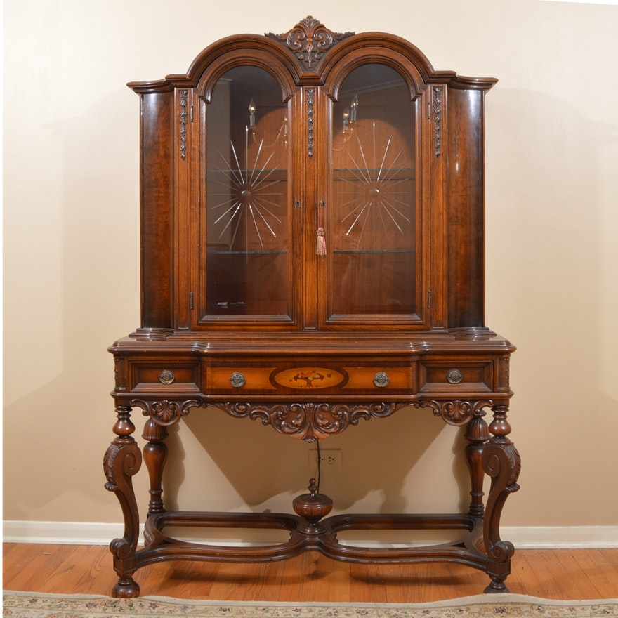 Jacobean Style Display Cabinet By West End Furniture Of
