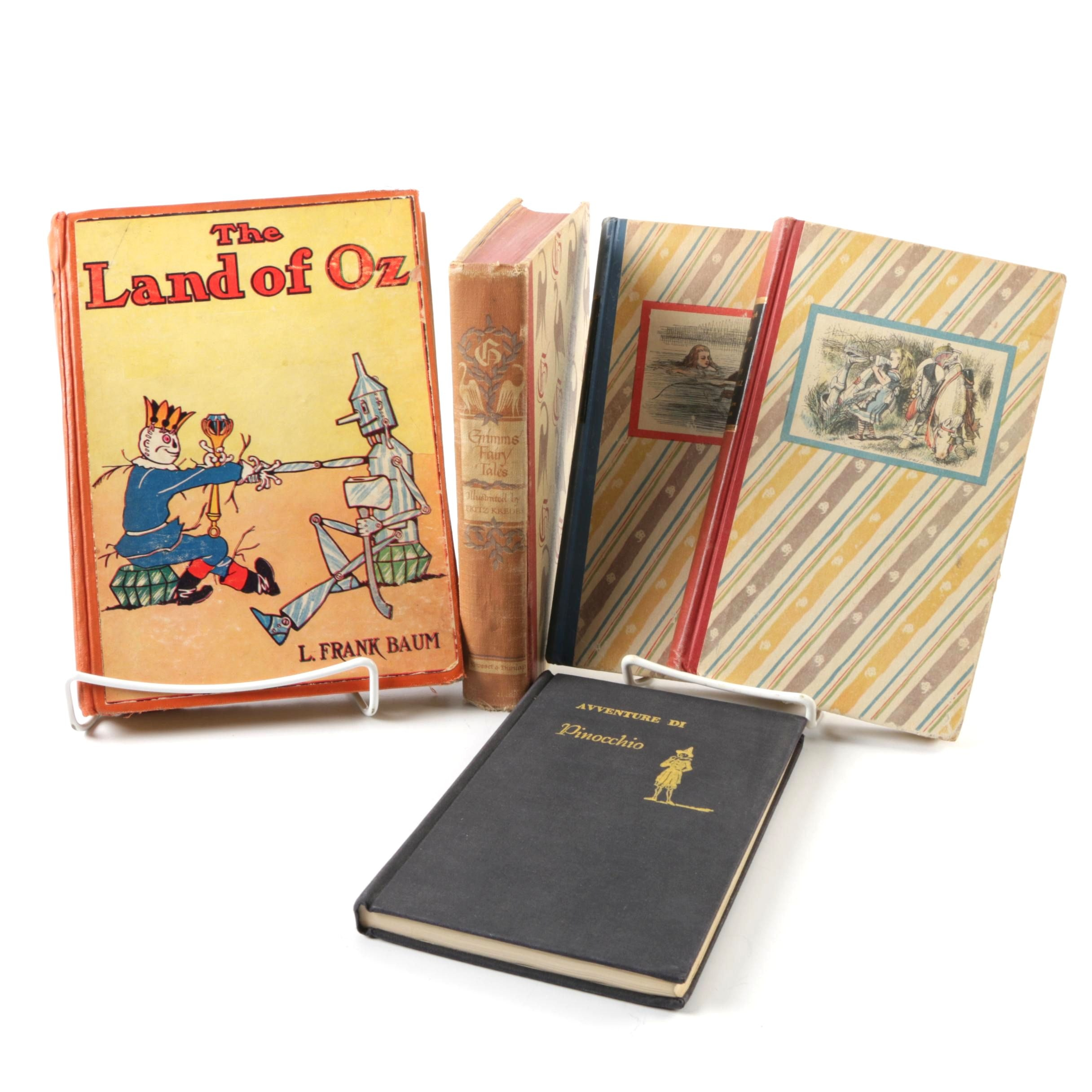 """Fairy Tale Books Featuring """"The Land of Oz"""" and """"Grimms' Fairy Tales"""""""