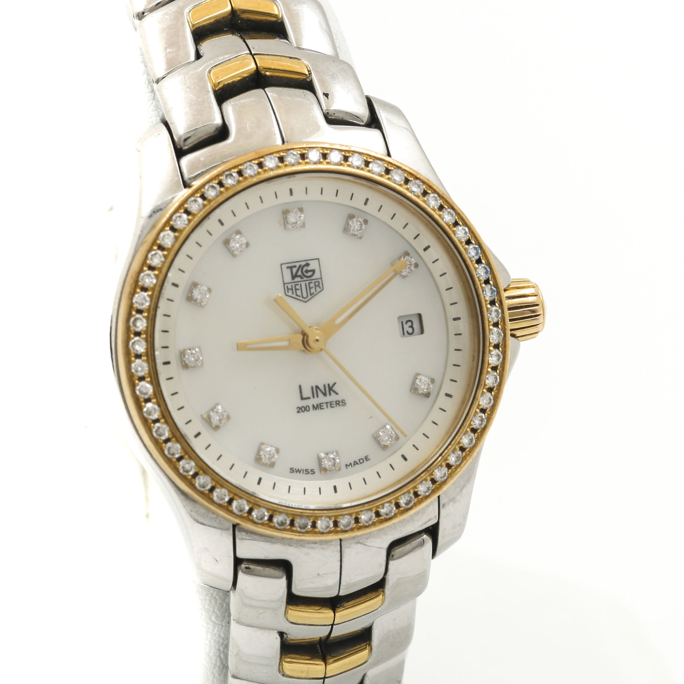 TAG Heuer 18K Yellow Gold and Diamond Watch