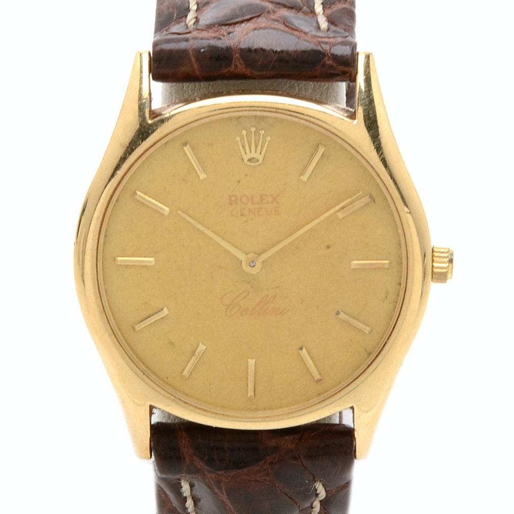 "Vintage Rolex Geneve ""Cellini"" 14K Yellow Gold Wristwatch"