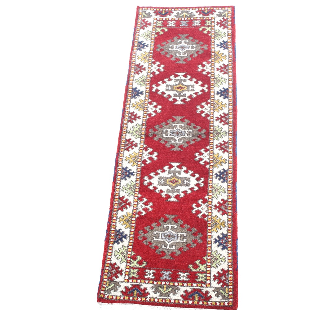 Hand-Knotted Indo Caucasian Runner