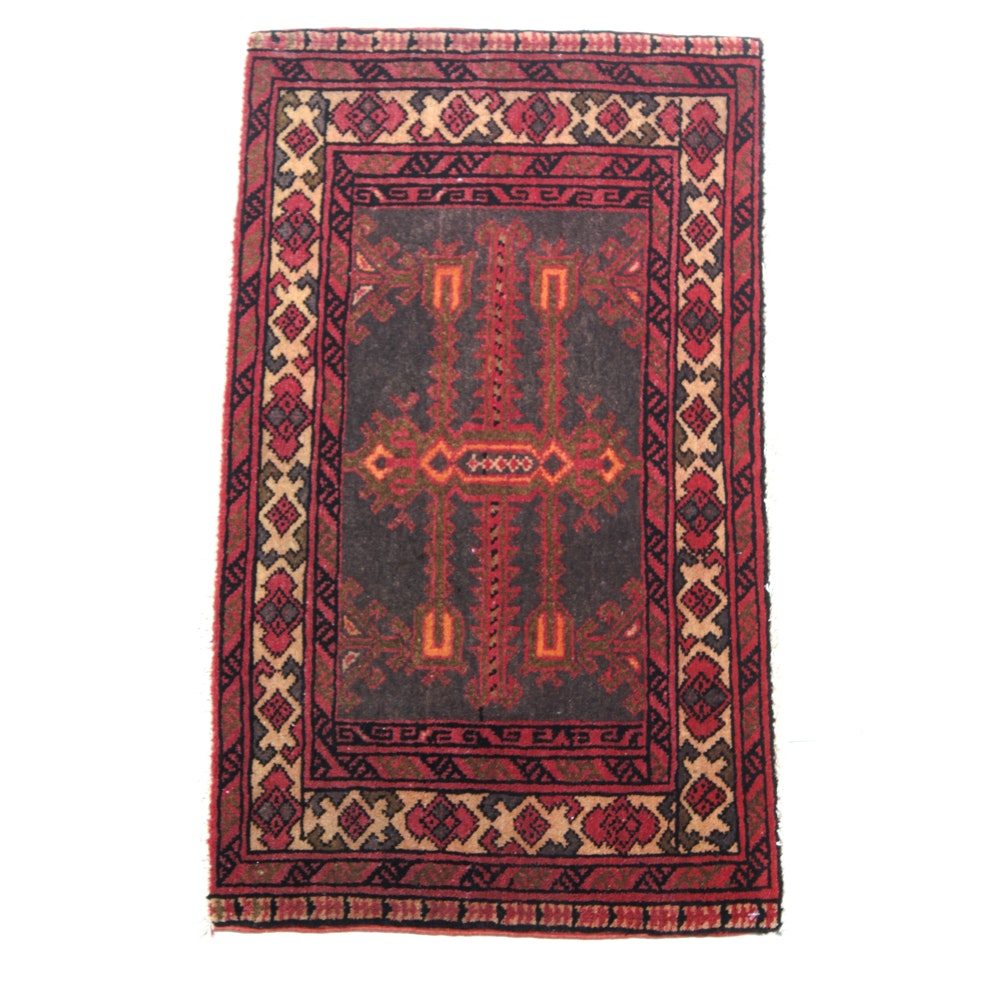 Semi-Antique Hand-Knotted Northwest Persian Accent Rug