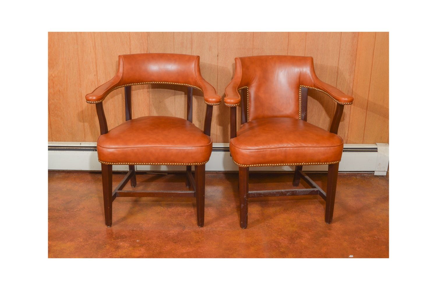 Vintage Leather Captain's Chairs