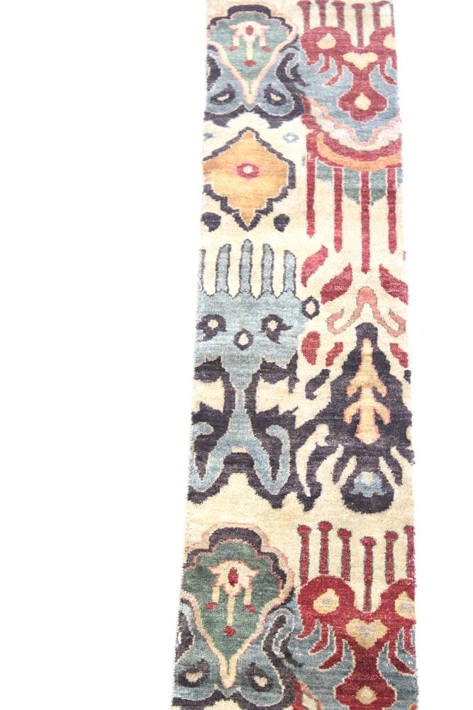 "Hand-Knotted Pakistani ""Tabriz"" Carpet Runner"