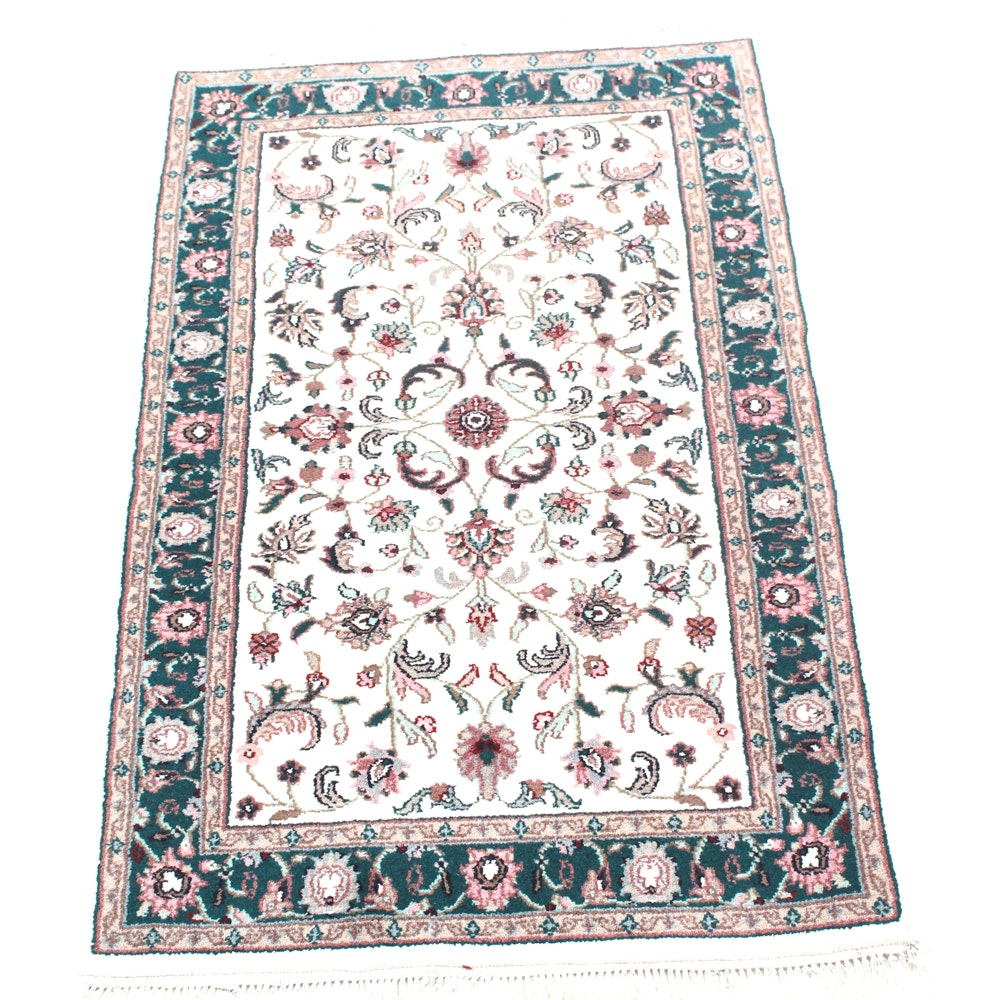 Hand-Knotted Indo-Persian Kazak Accent Rug