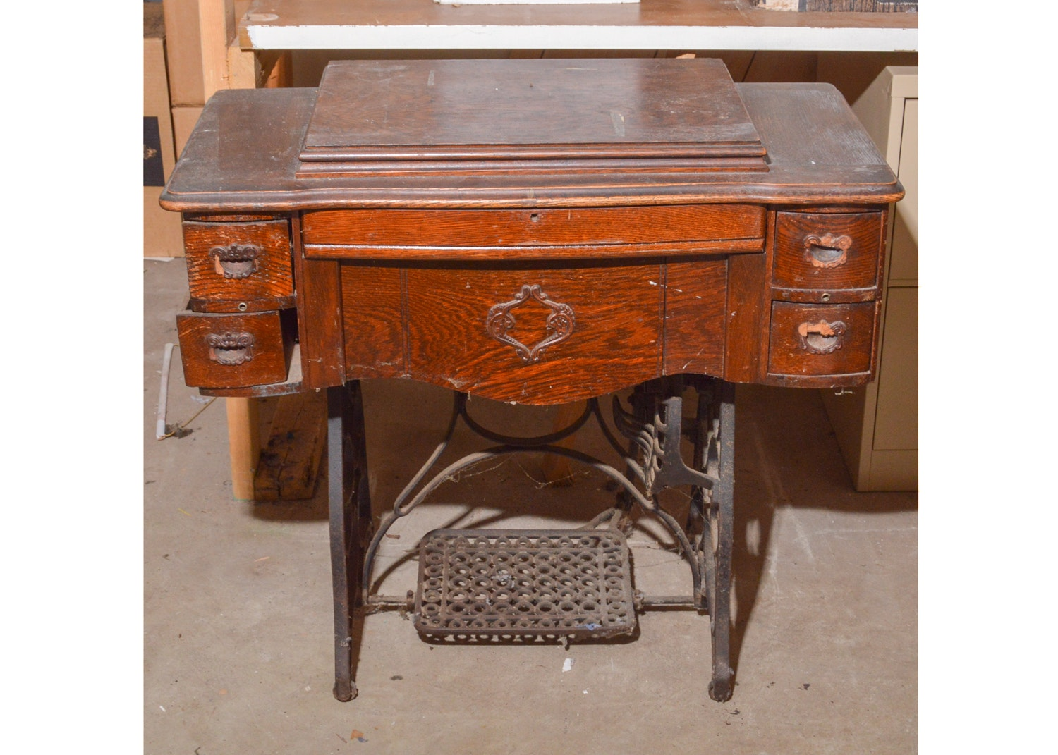 Antique Ruby Sewing Machine and Table