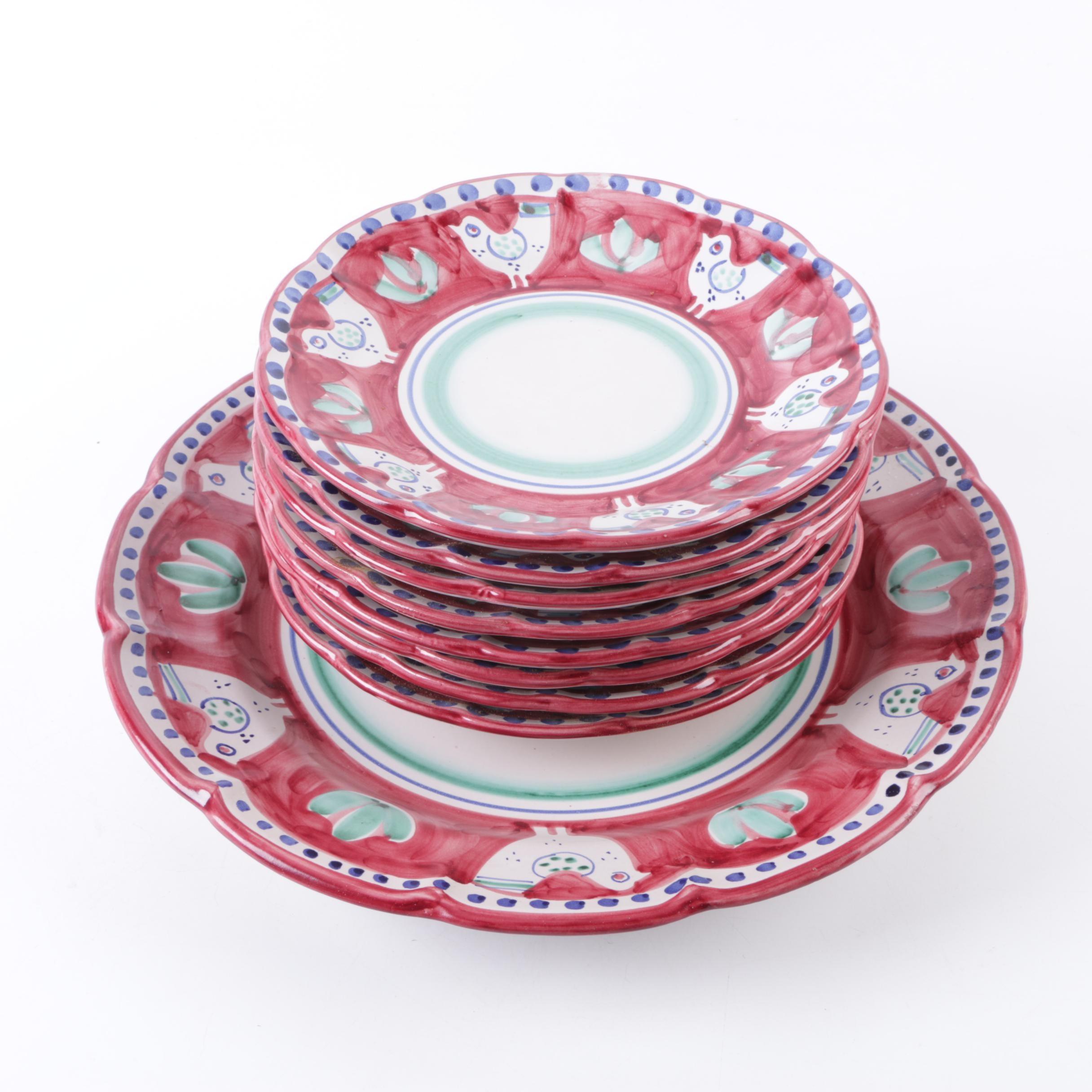 Italian Hand-painted Ceramic Tableware