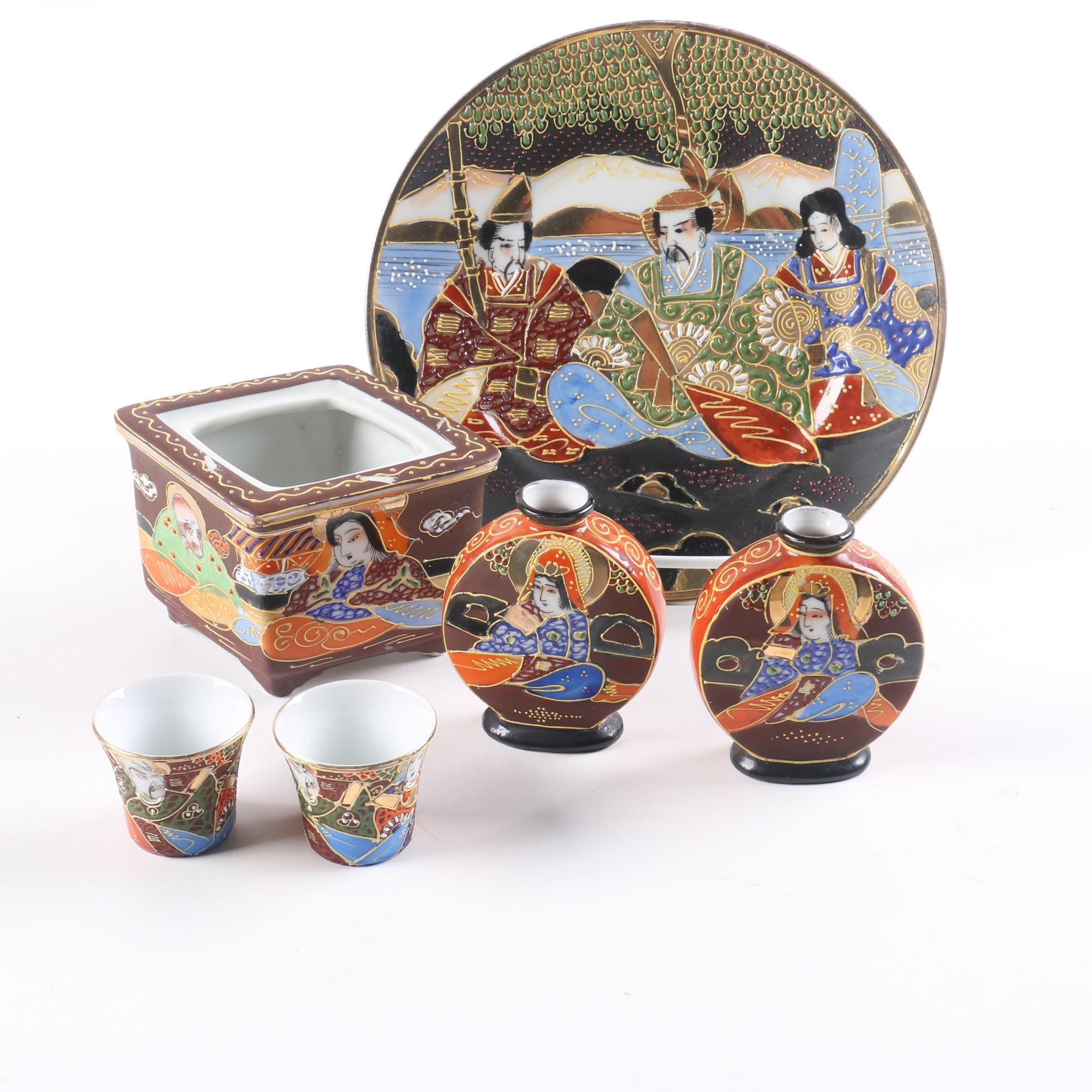 Japanese Satsuma Porcelain Tableware